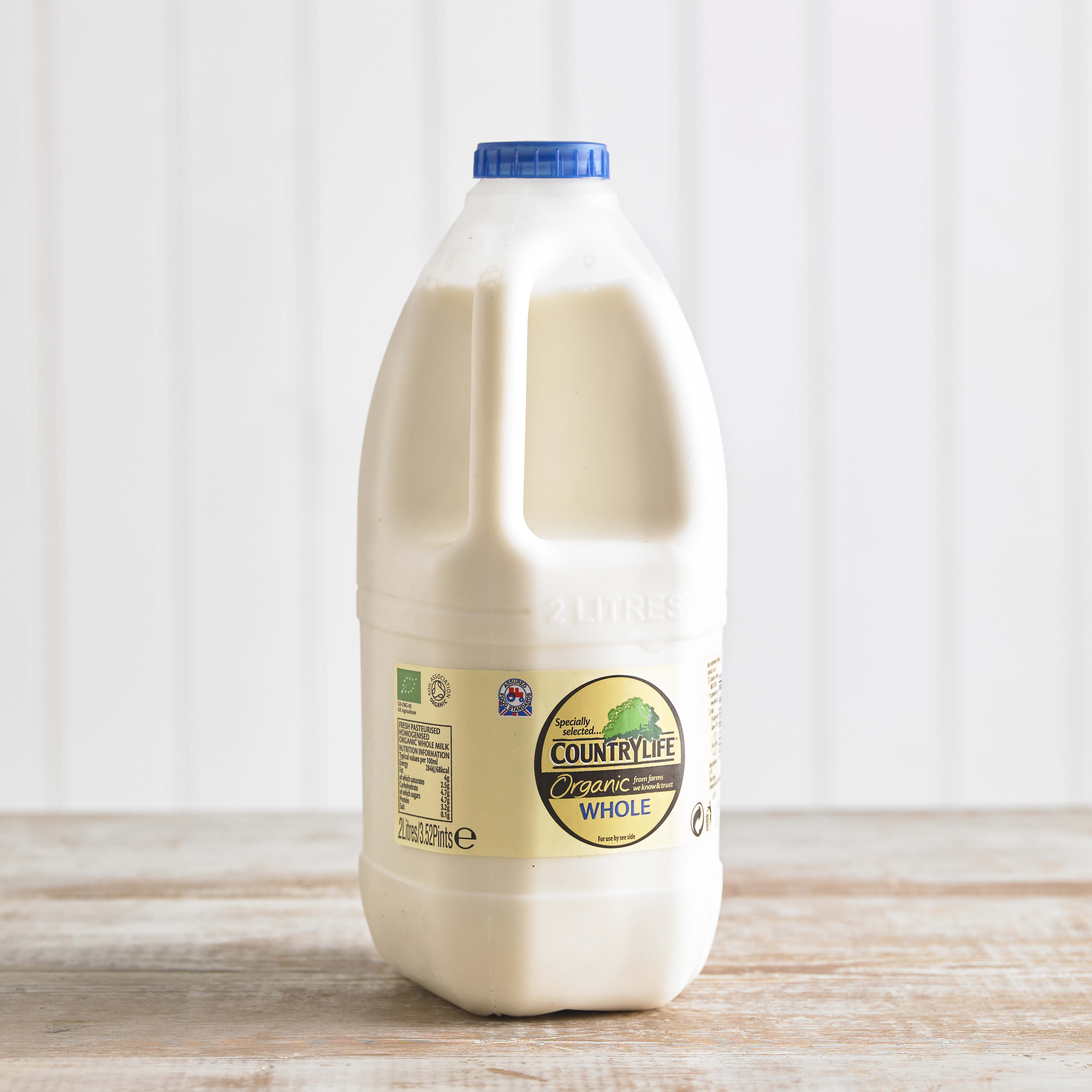 Country Life Organic Whole Milk, 2L