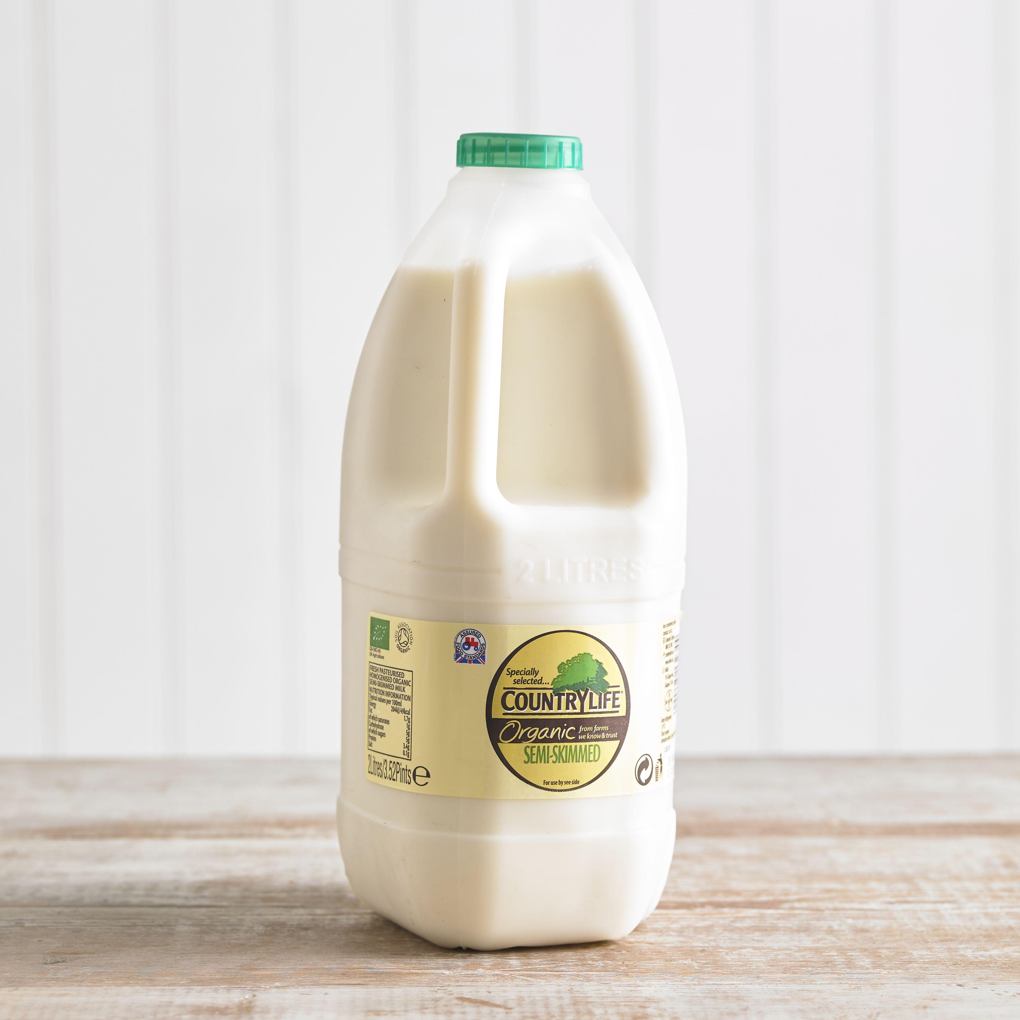 Country Life Organic Semi Skimmed Milk, 2L