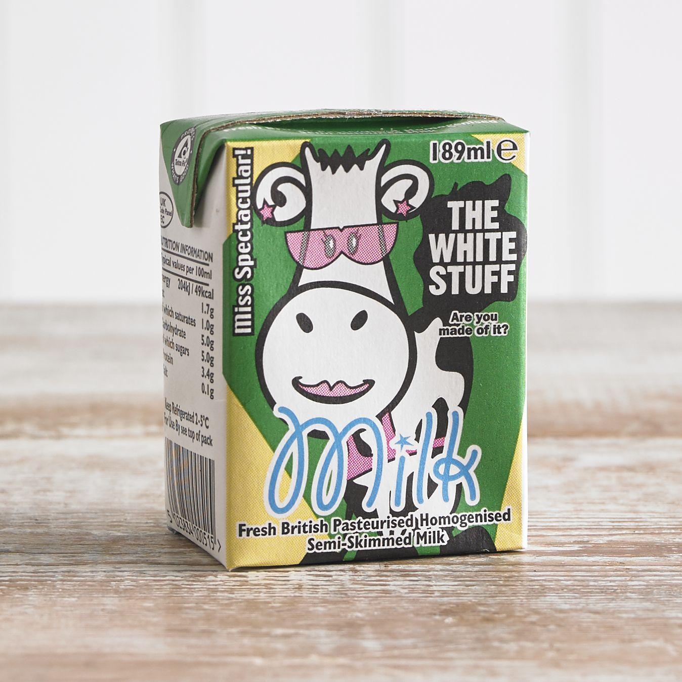 Children's Semi Skimmed Milk Carton, 189ml