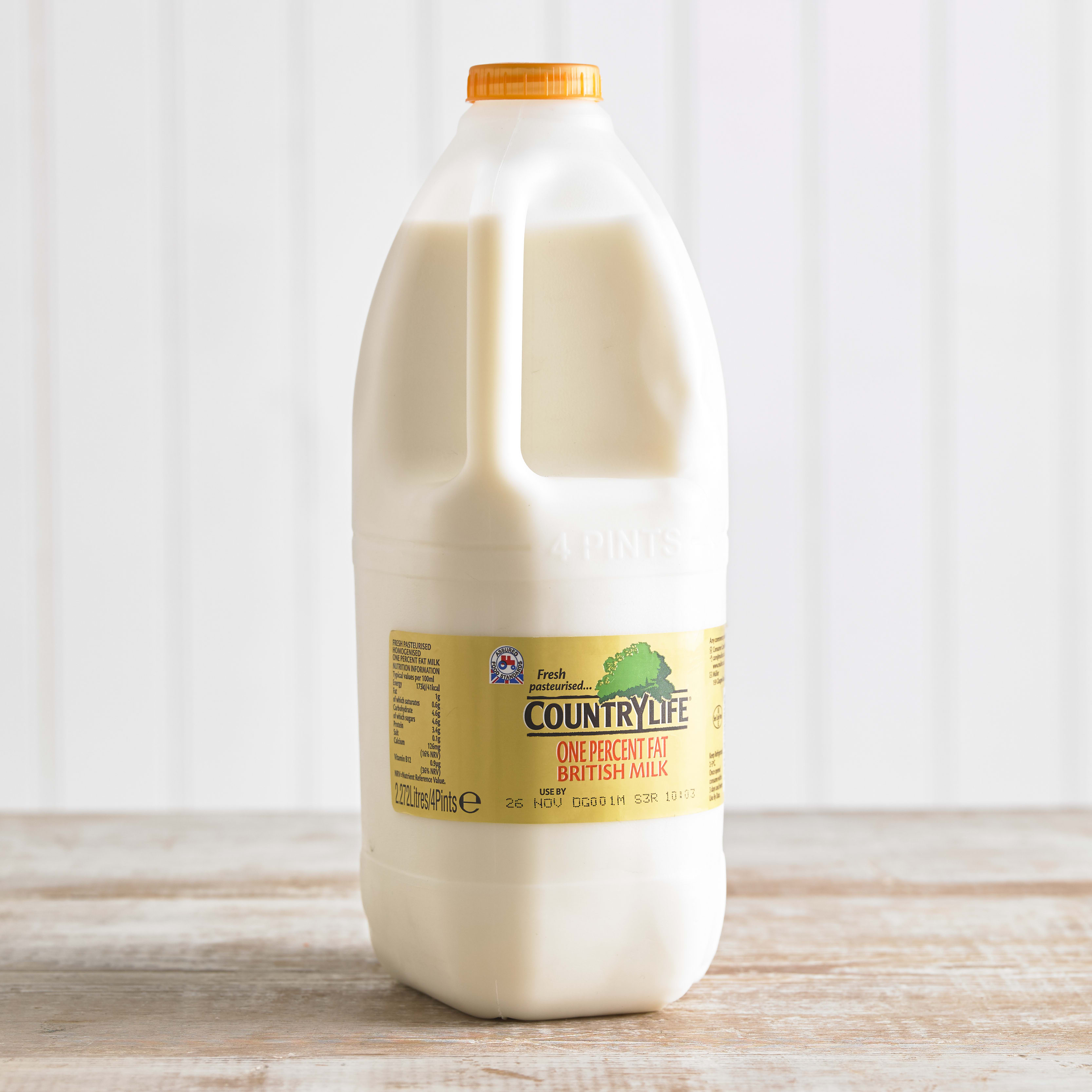 Country Life 1% Fat Milk, 2.27L, 4pt