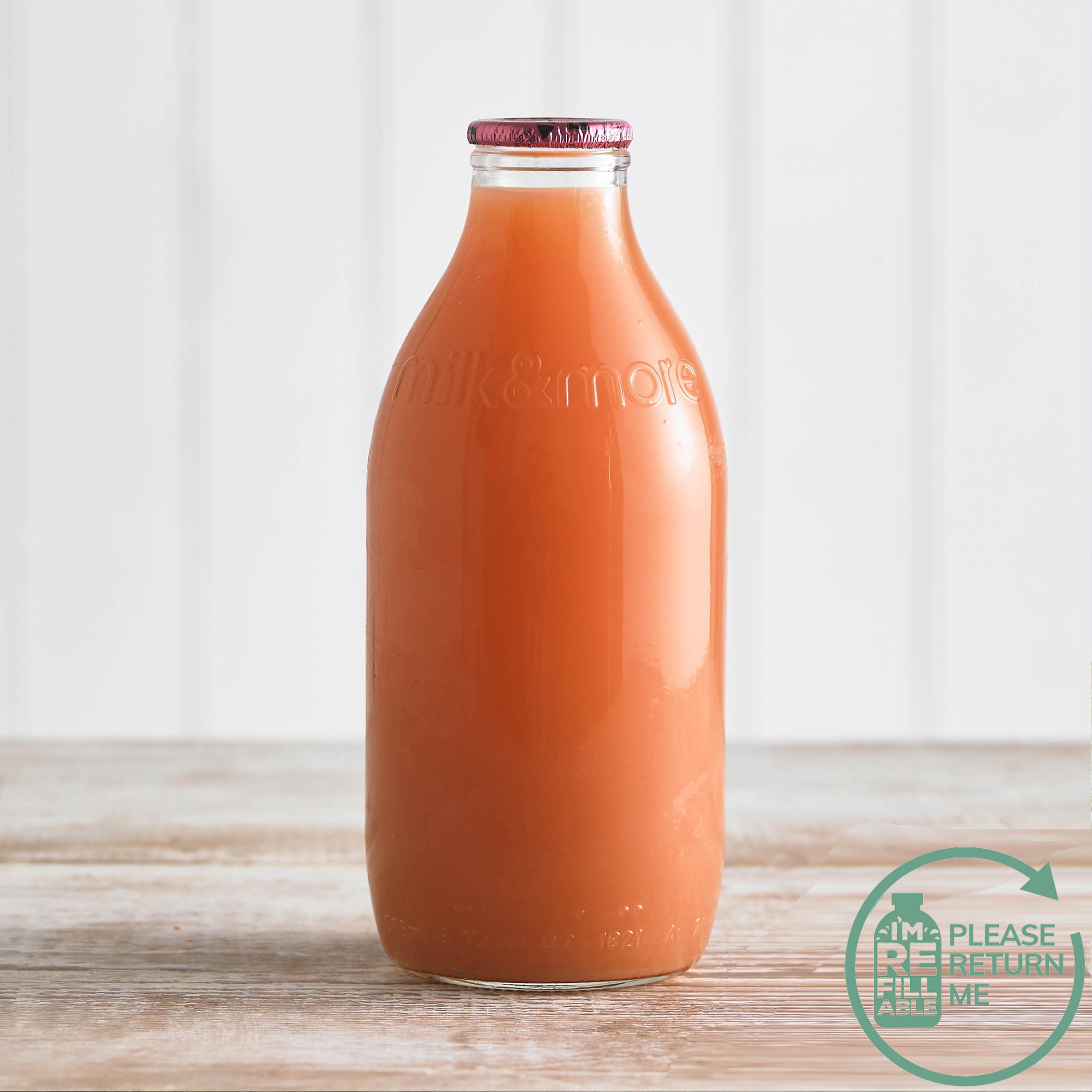 Grapefruit Juice Glass Bottle, 1pt/568ml