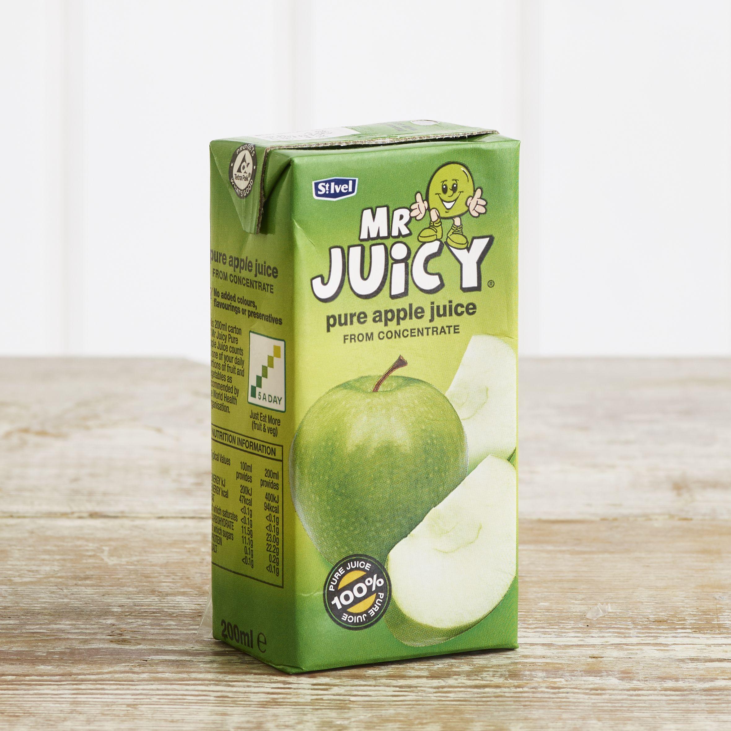 Mr Juicy Apple Juice, 200ml