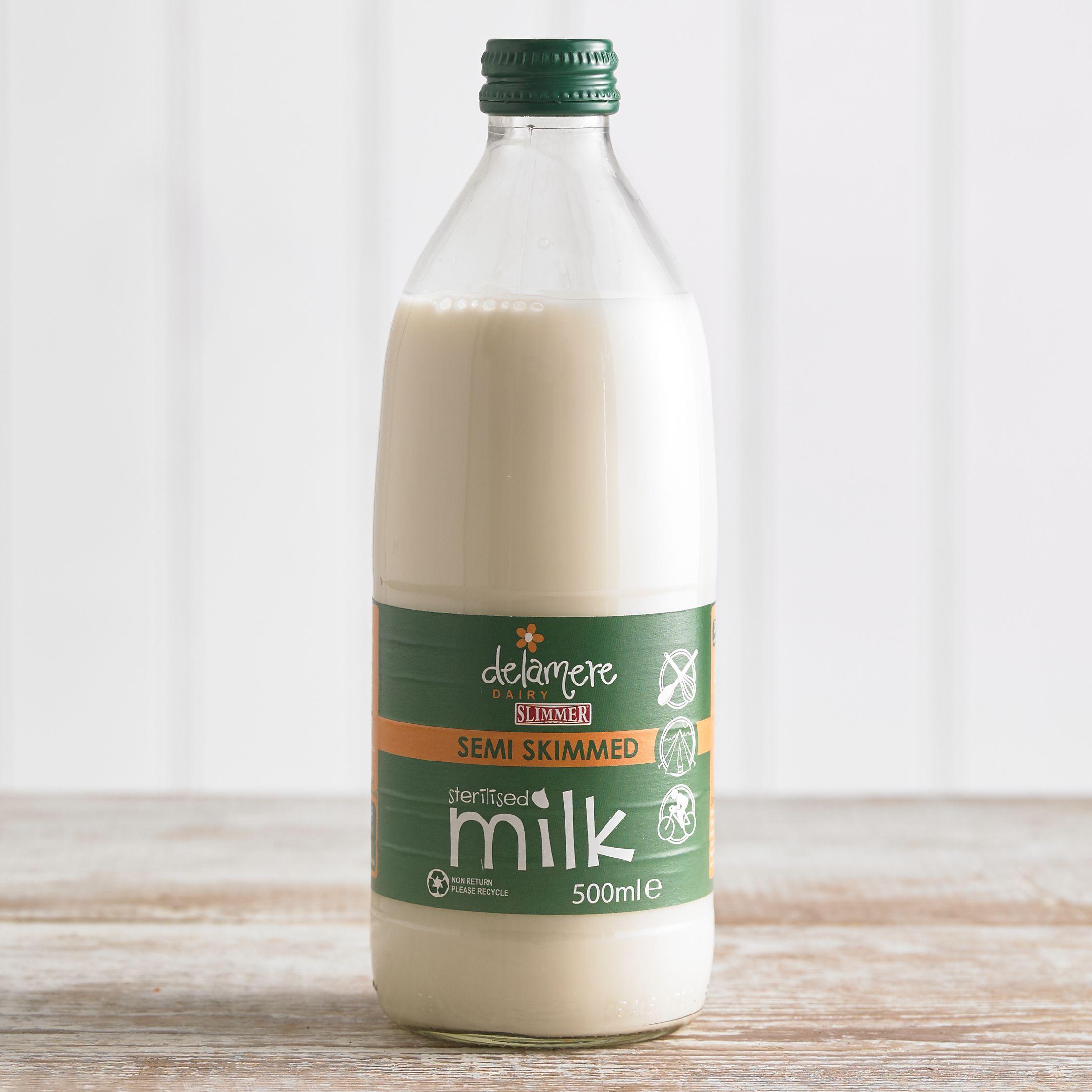 Delamere Sterilised Semi Skimmed Milk, 500ml