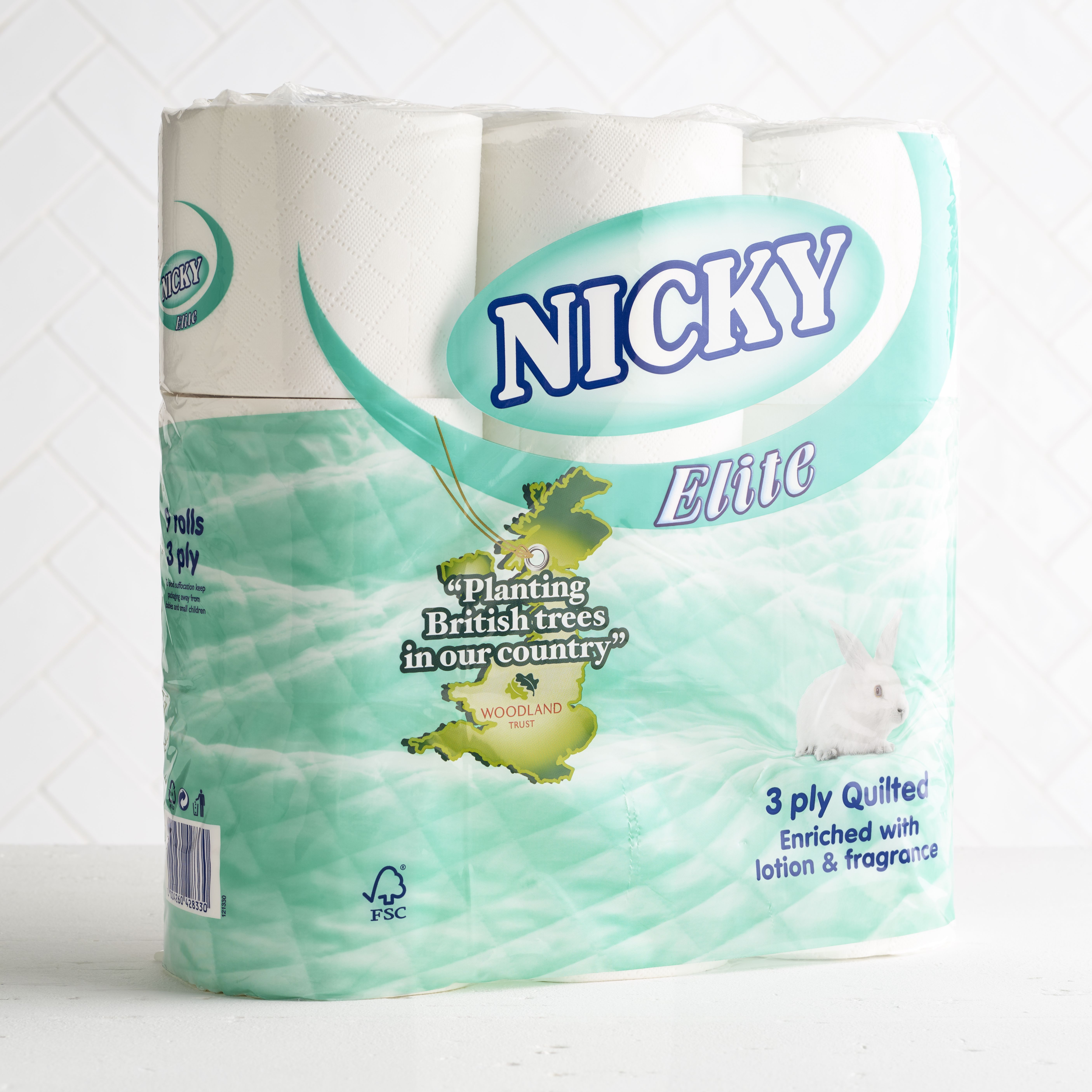 Nicky Elite Toilet Rolls, 9 pack