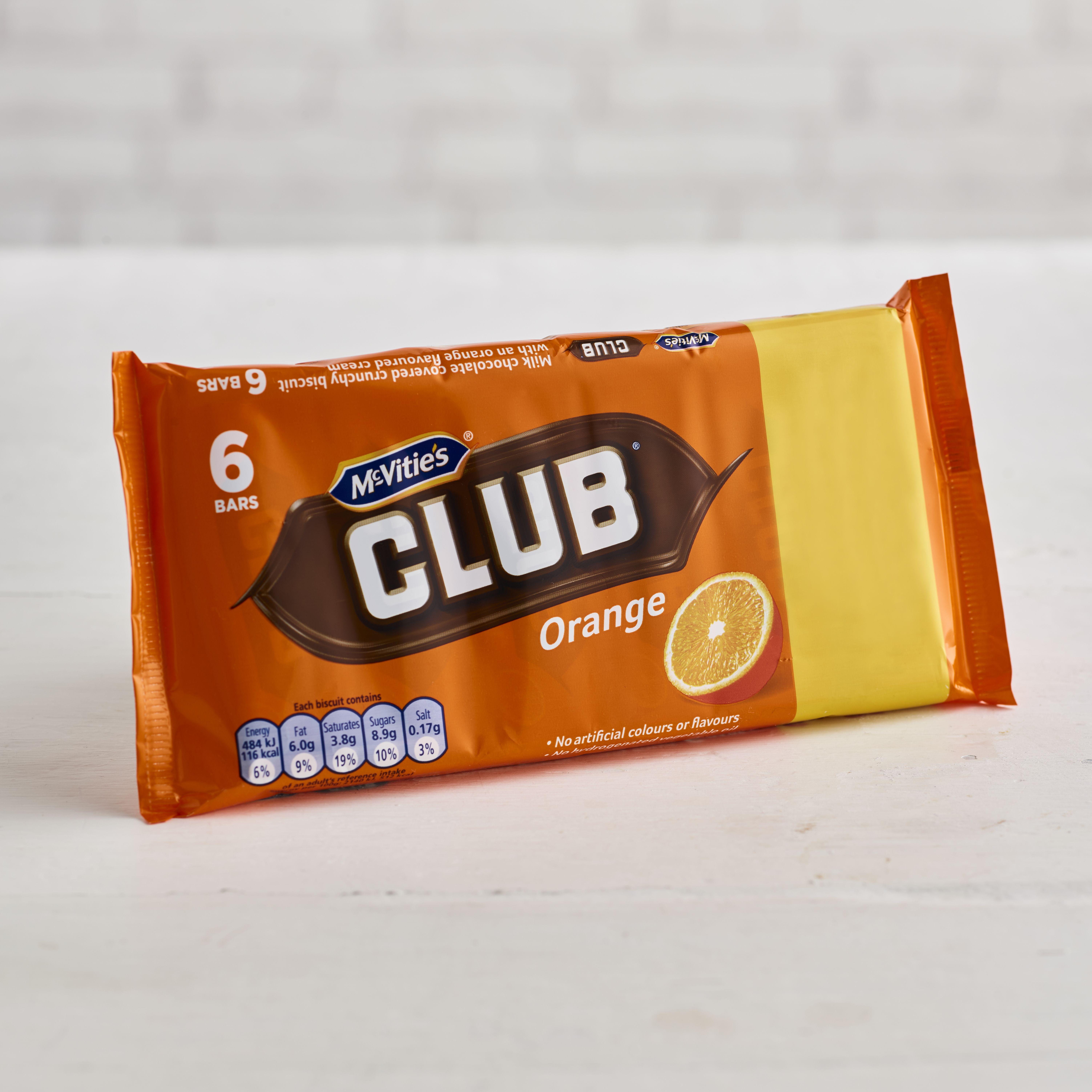 McVitie's Club Orange Chocolate Biscuits, 6 Pack