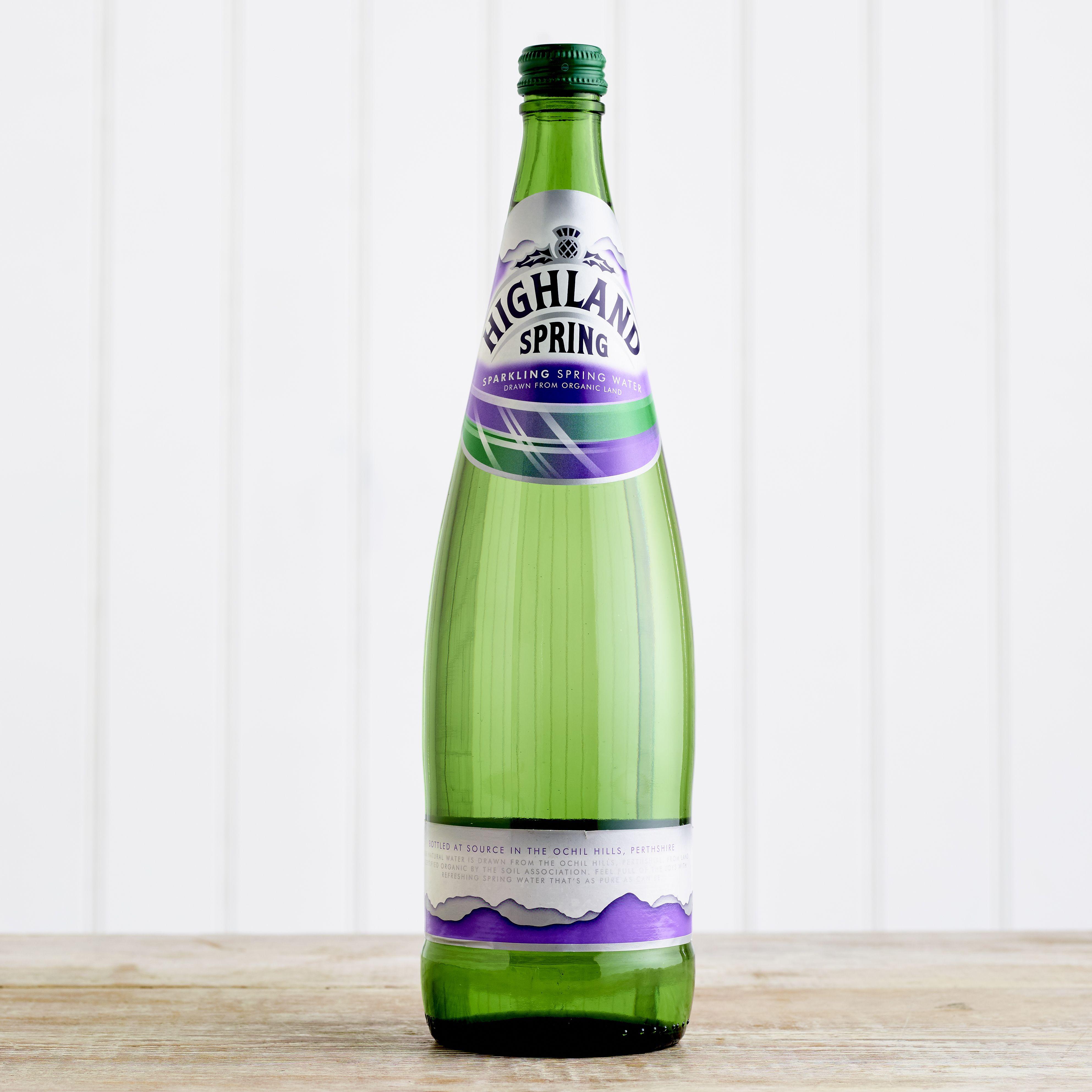 Highland Spring Sparkling Water Glass, 1L