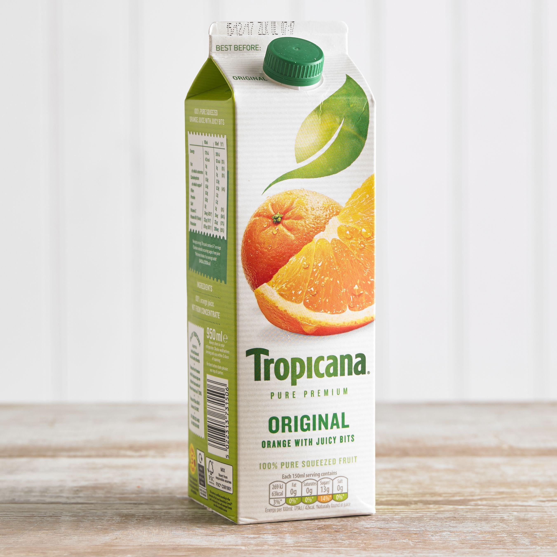 Tropicana Original Orange Juice, 950ml