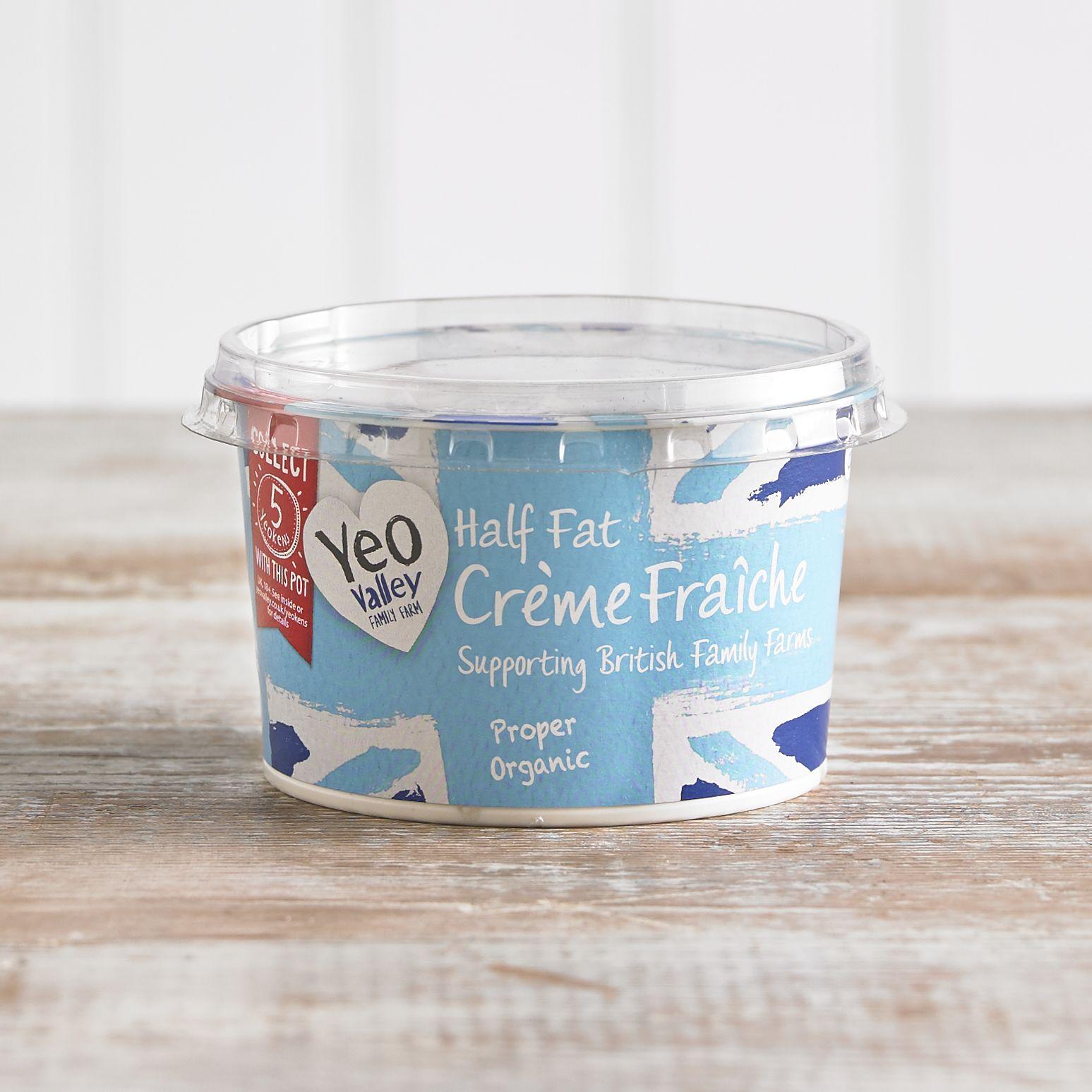 Yeo Valley Organic Half Fat Crème Fraiche, 200g
