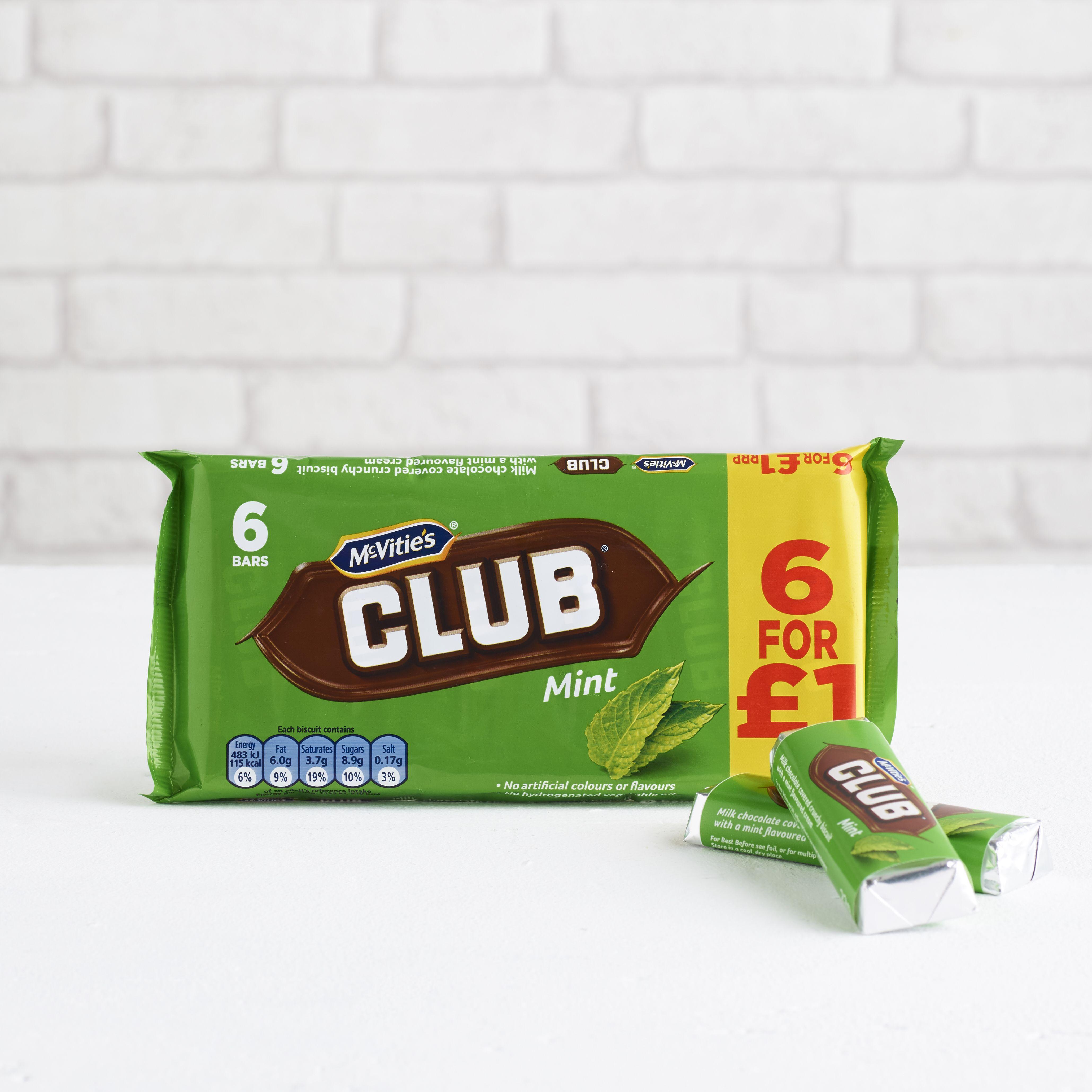 McVitie's Mint Chocolate Club, 6 pack