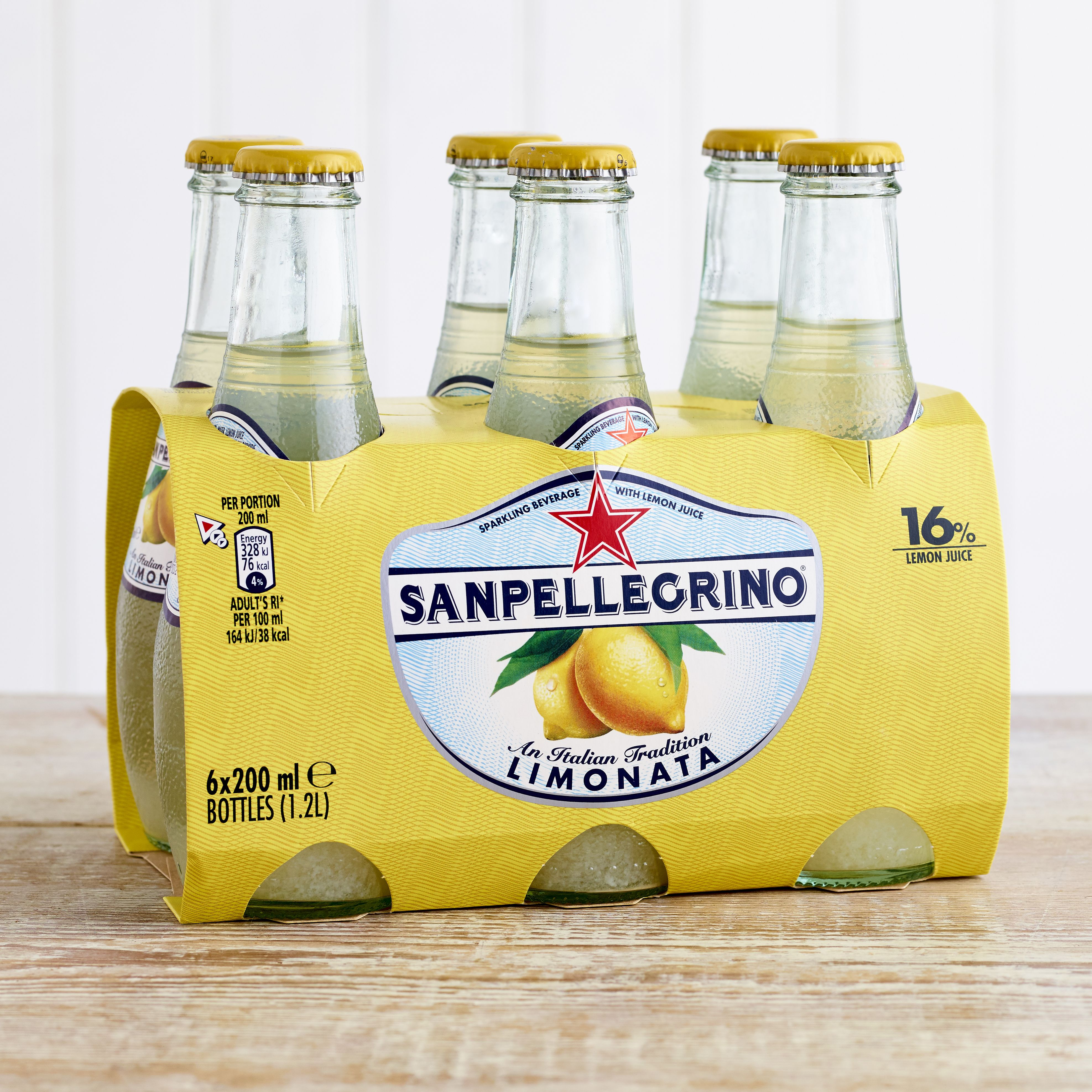 San Pellegrino Limonata Glass Bottle, 6 x 200ml