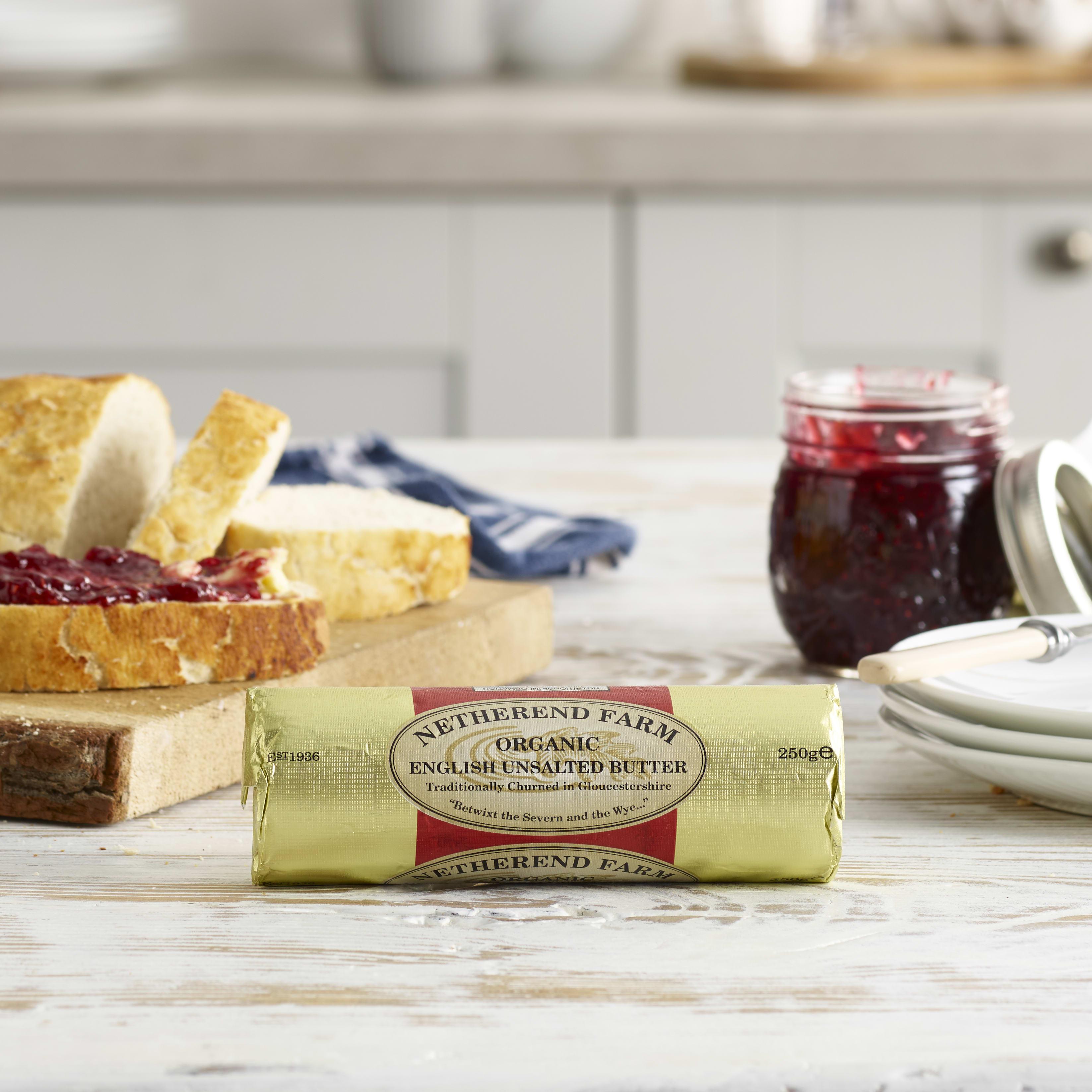 Netherend Farm Organic Unsalted Butter Roll, 250g