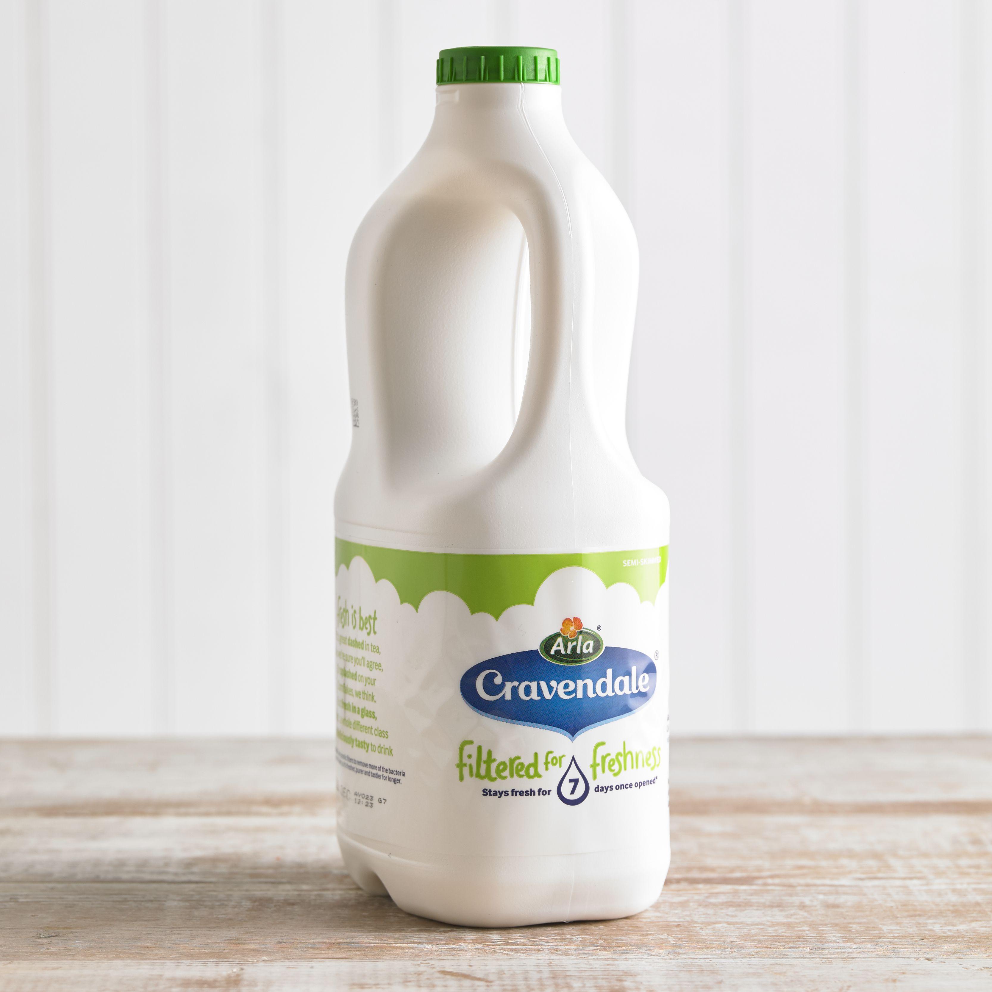 Cravendale Semi-Skimmed Milk, 2L