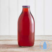 Cranberry Juice Drink Glass Bottle, 1pt/568ml