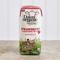 Daioni Organic Strawberry Flavoured Milk, 200ml