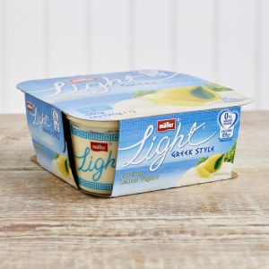 Müllerlight Greek Style Fat Free Lemon Yoghurt, 4 x 120g