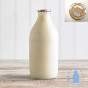 Channel Island 'Gold Top' Milk in Glass, 568ml, 1pt