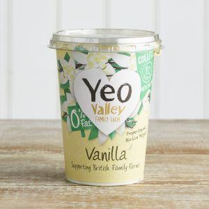 Yeo Valley Organic Fat Free Vanilla Yoghurt, 450g