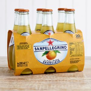 San Pellegrino Aranciata Glass Bottles, 6 x 200ml