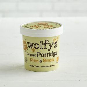 Wolfys Organic Porridge Pot Plain & Simple, 60g