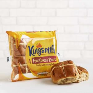 Kingsmill Hot Cross Buns x 4