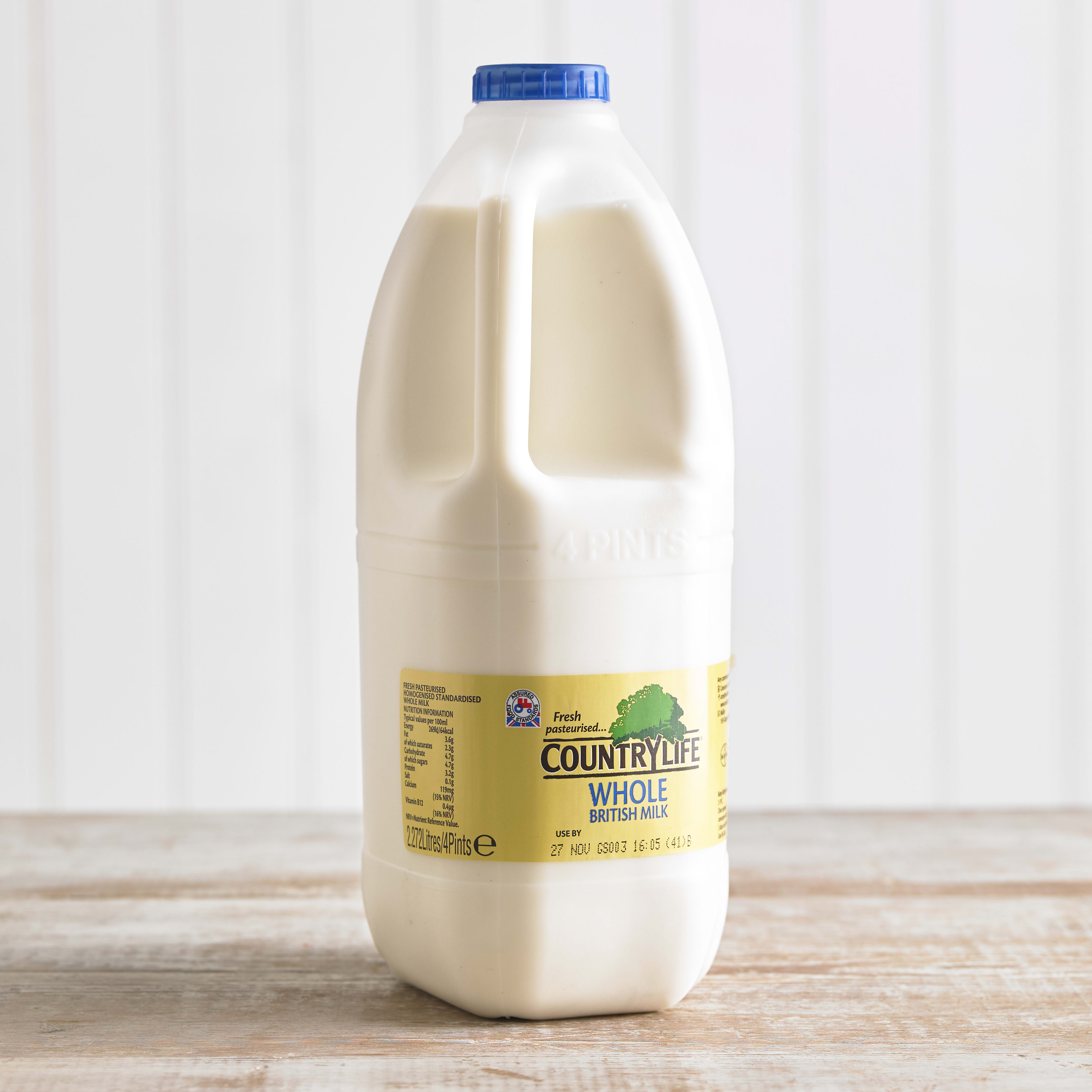 Country Life Whole Milk, 2.27L, 4pt