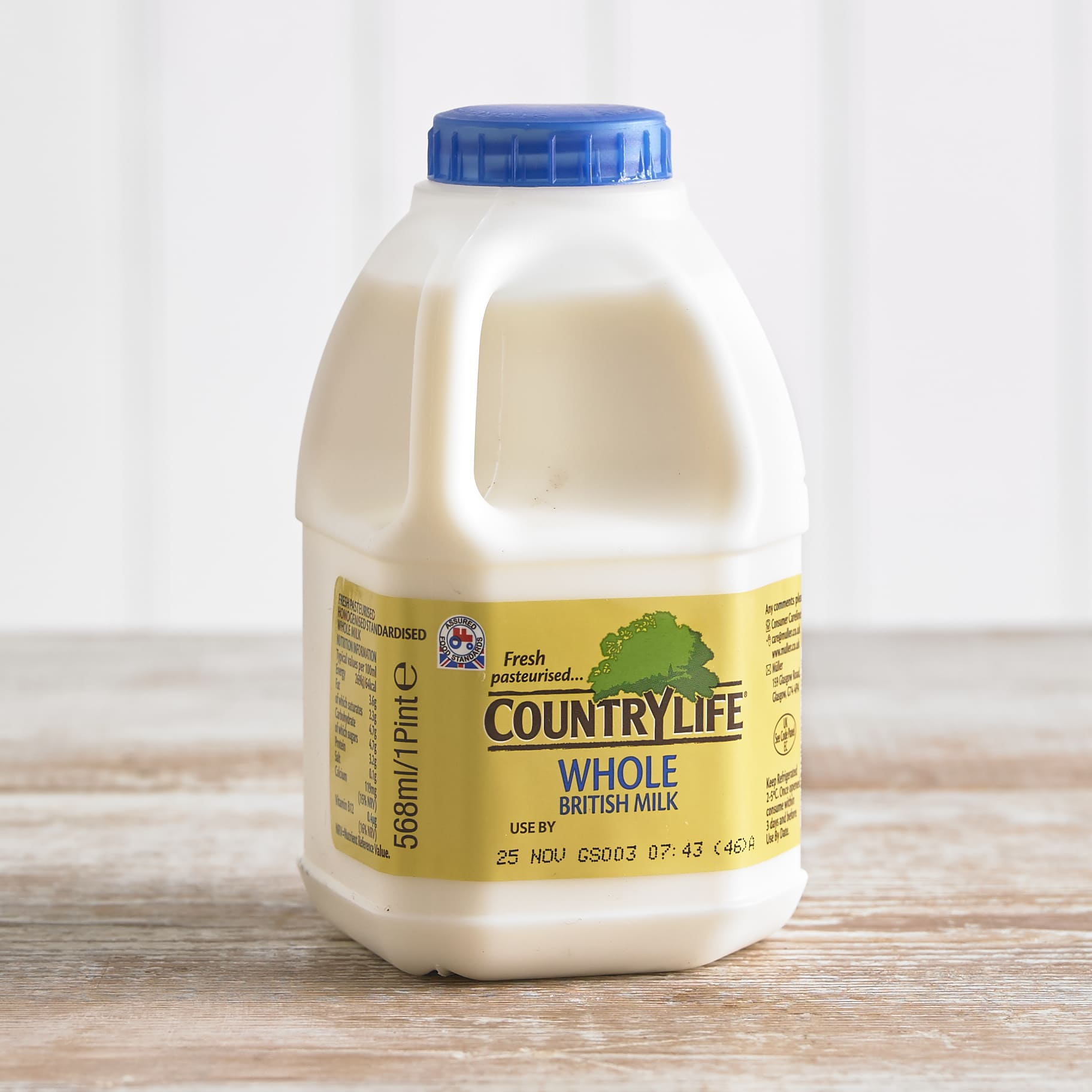 Country Life Whole Milk, 568ml, 1pt