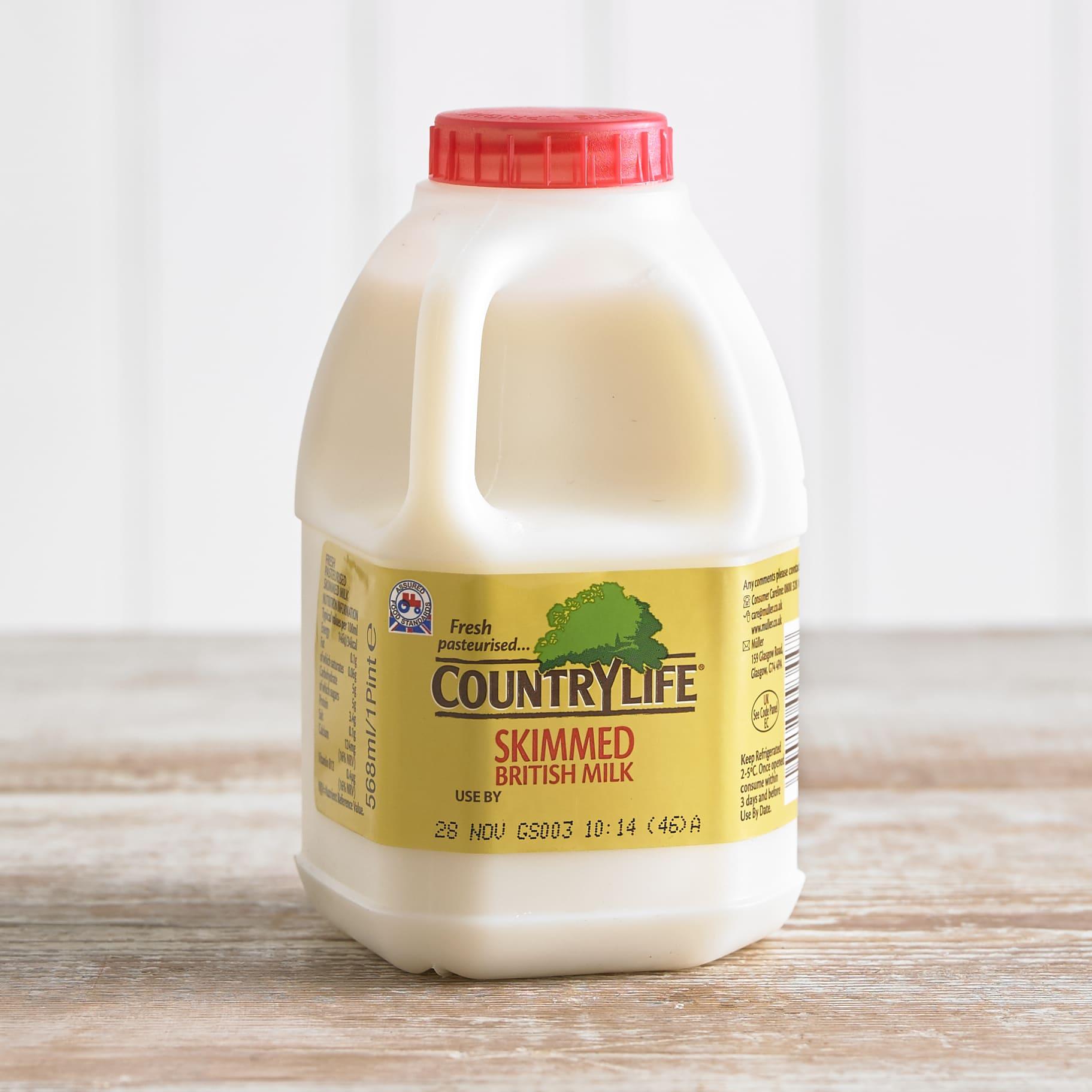 Country Life Skimmed Milk, 568ml, 1pt