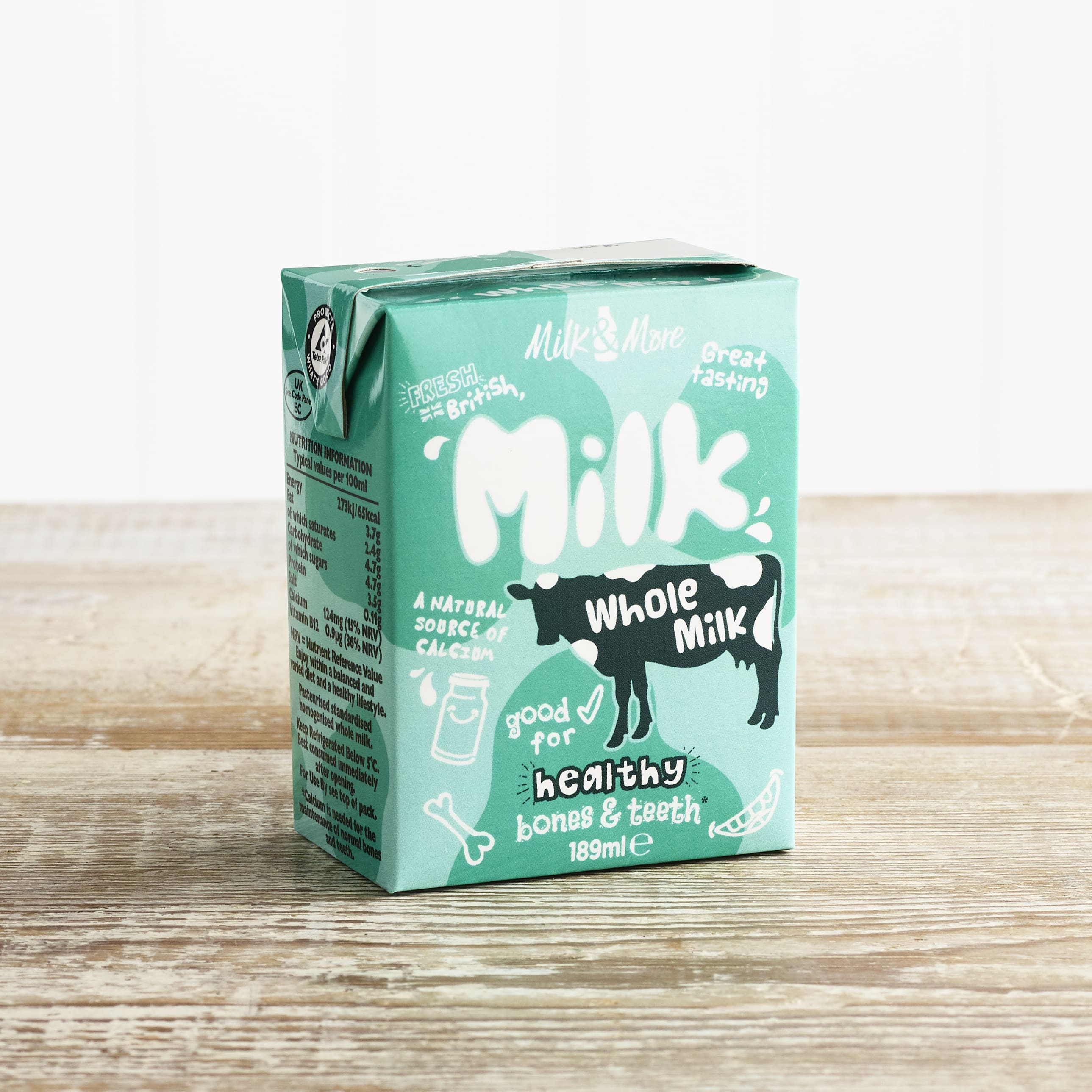 Children's Whole Milk Carton, 189 ml