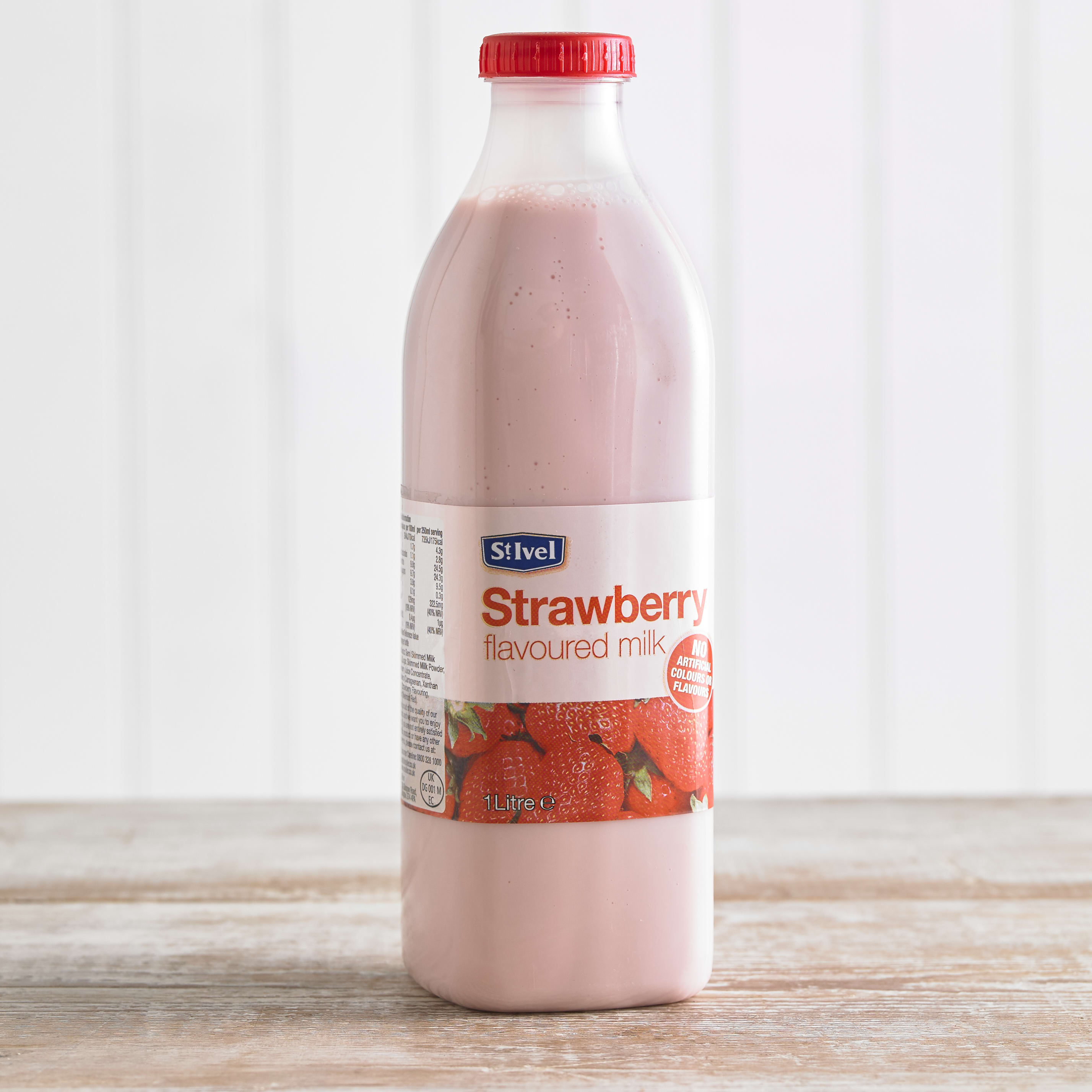 St Ivel Flavoured Milk Drink Strawberry, 1L