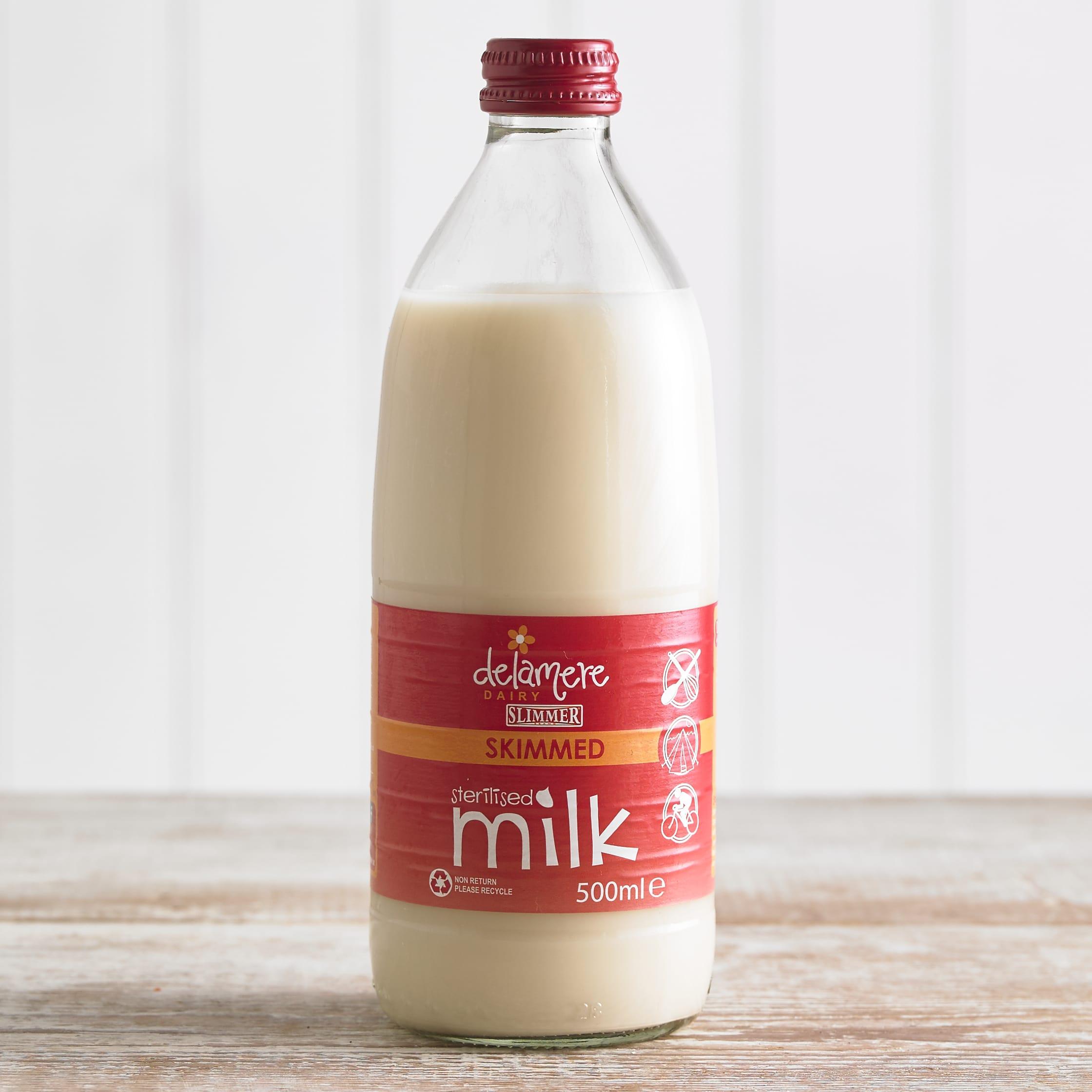 Delamere Sterilised Skimmed Milk, 500ml