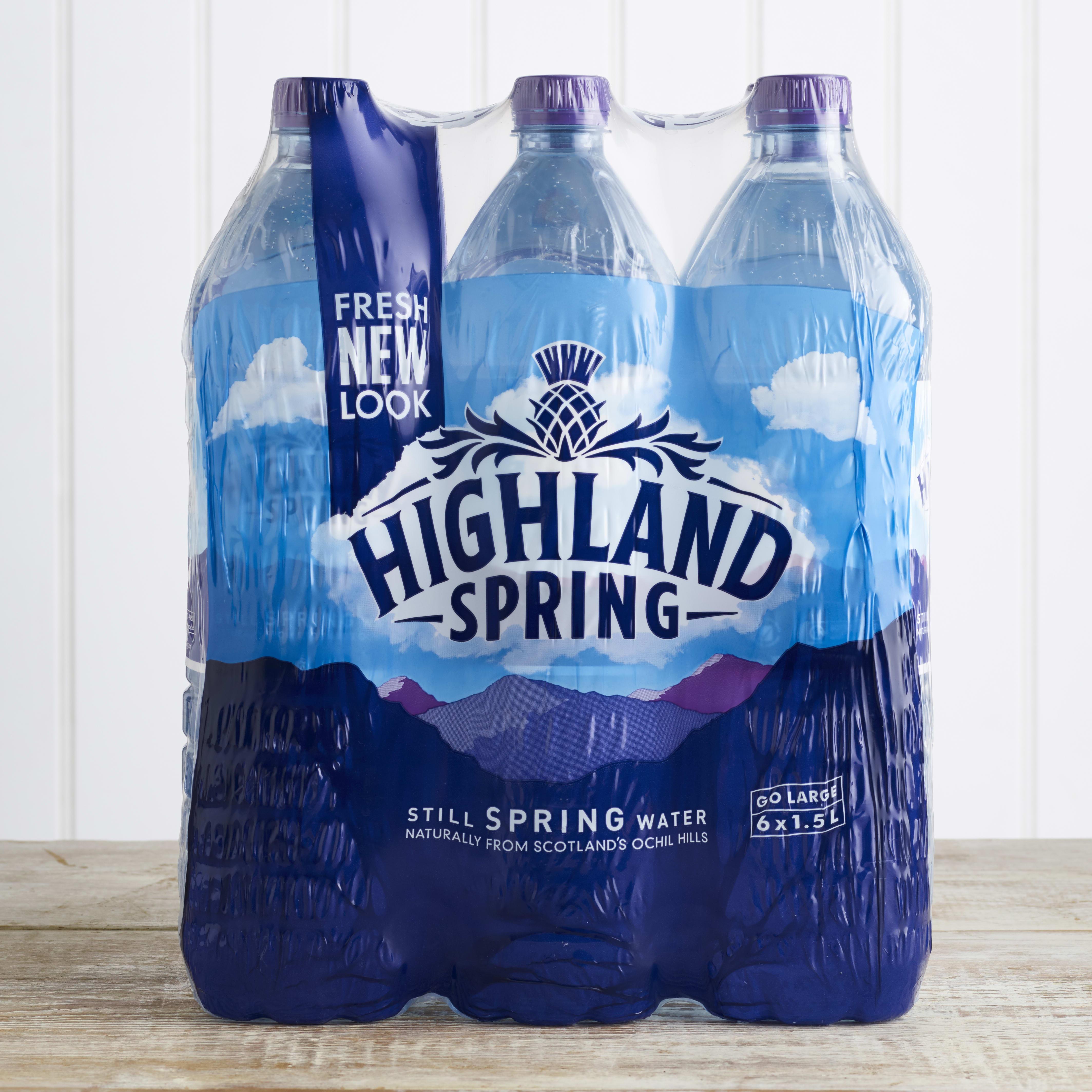 Highland Spring Still Water Multipack, 6 x 1.5L