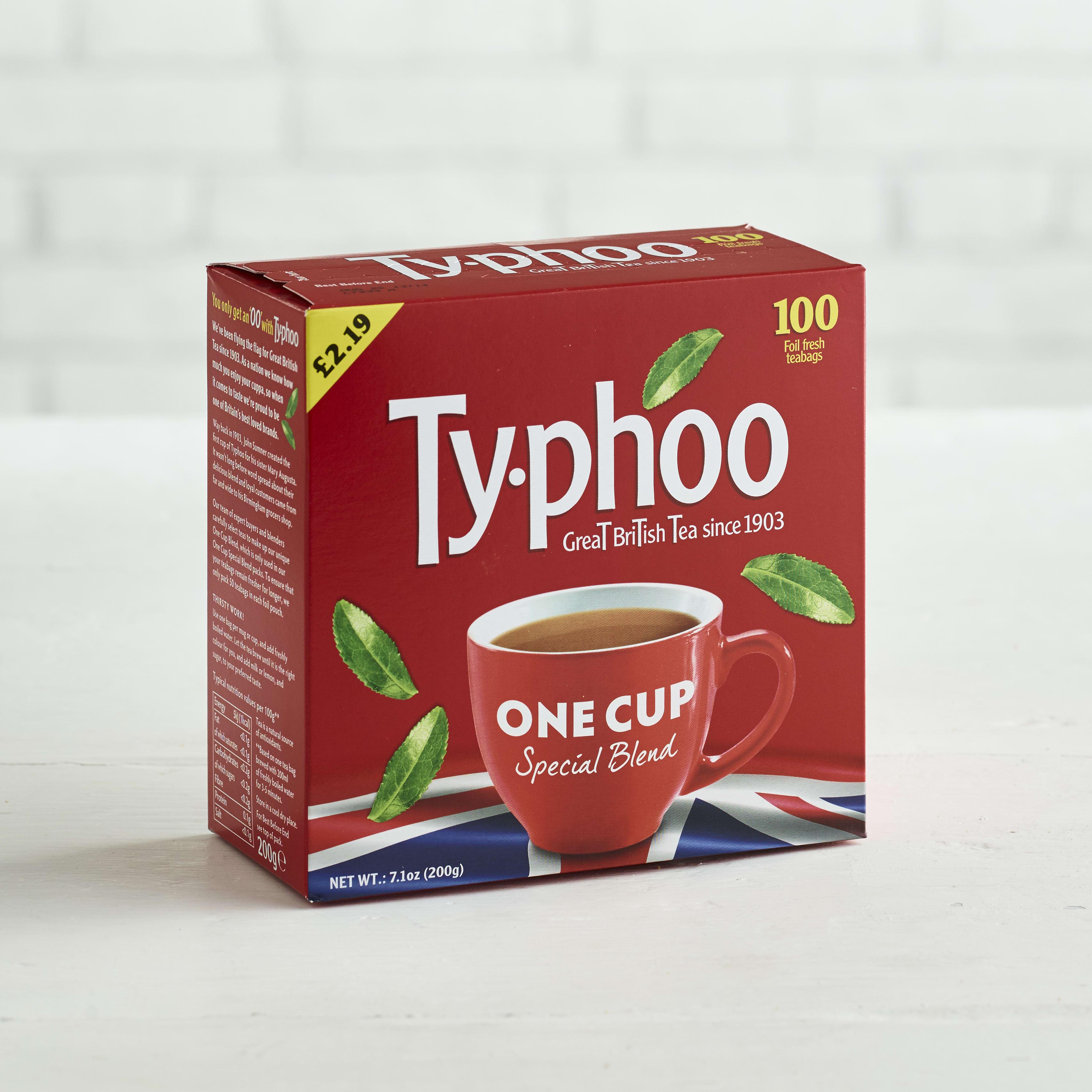 Typhoo One Cup Tea, 100 Bags
