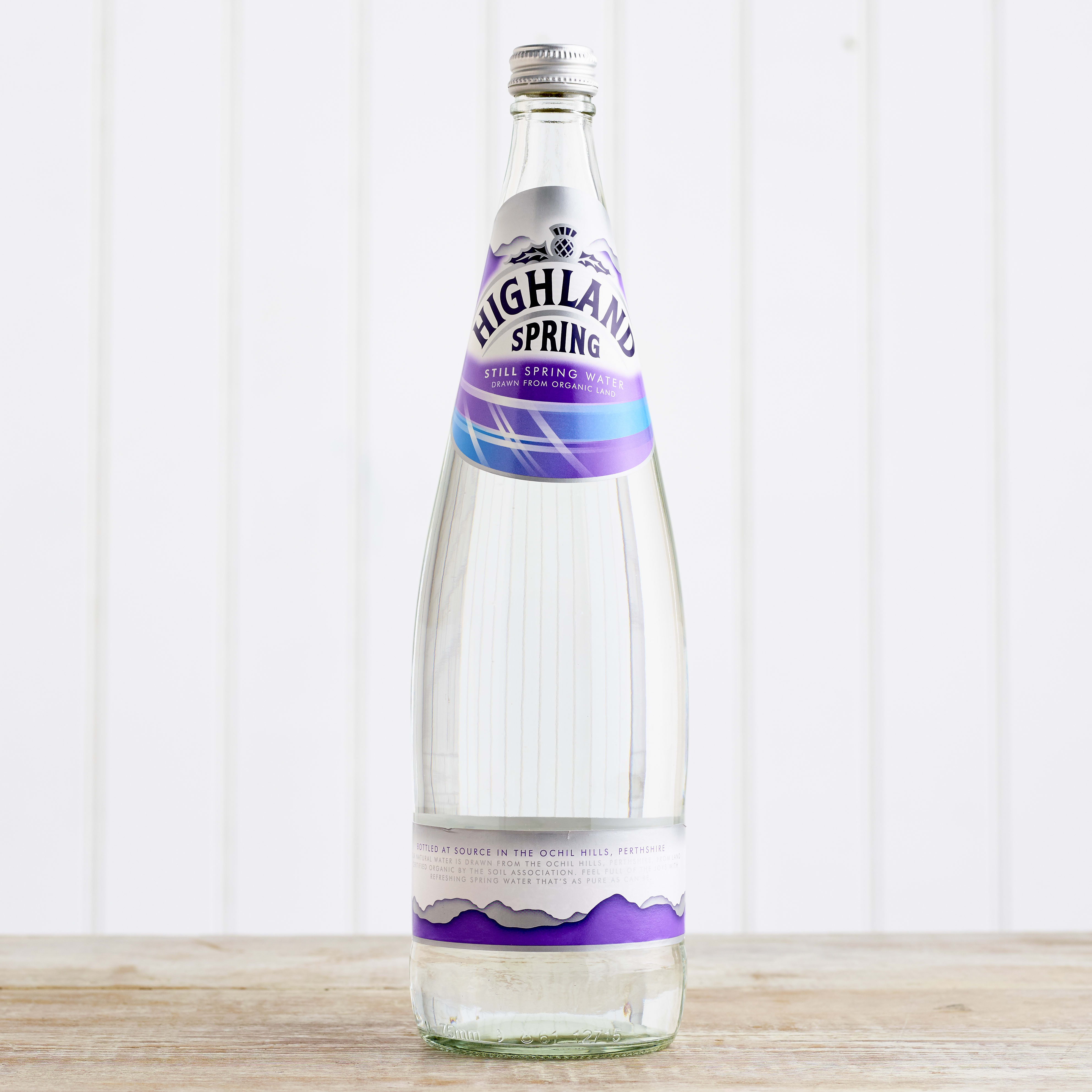 Highland Spring Still Water in Glass, 1L