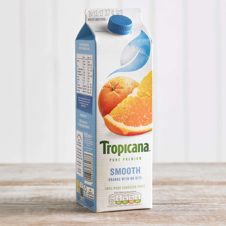 Tropicana Smooth Orange Juice, 950ml