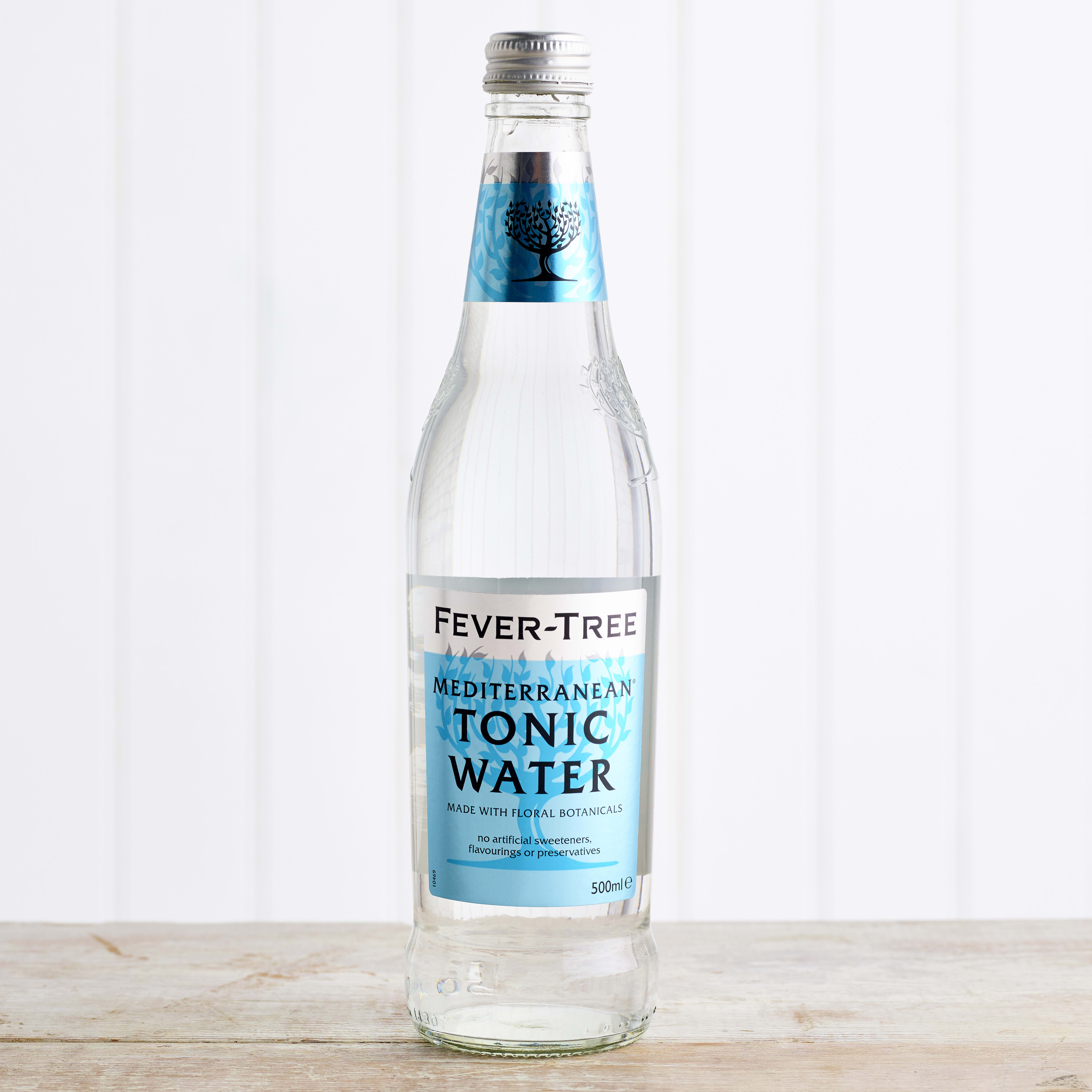 Fever-Tree Mediterranean Tonic Water in Glass, 500ml