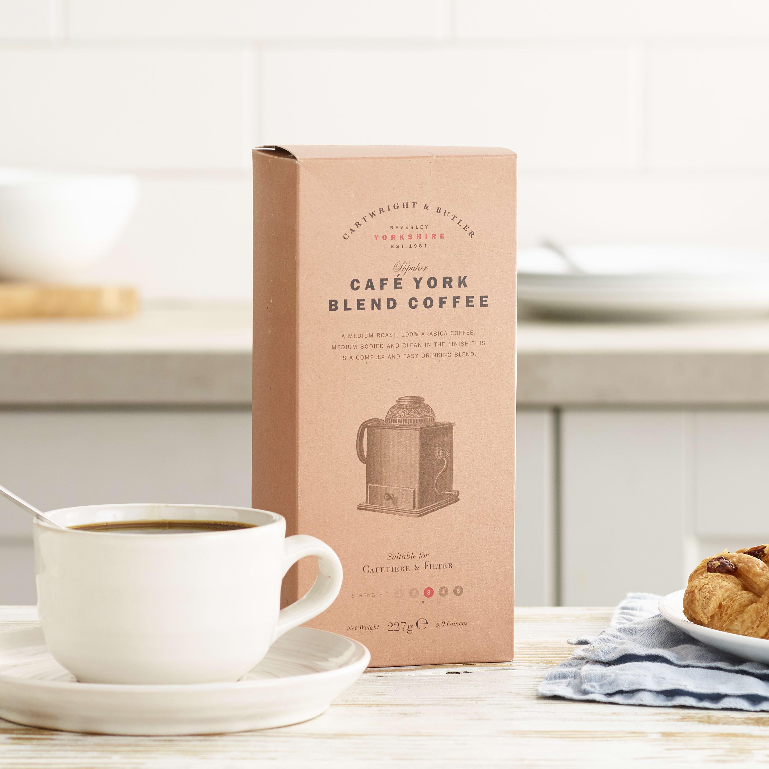 Cartwright & Butler Café York Blend Coffee in Carton, 227g