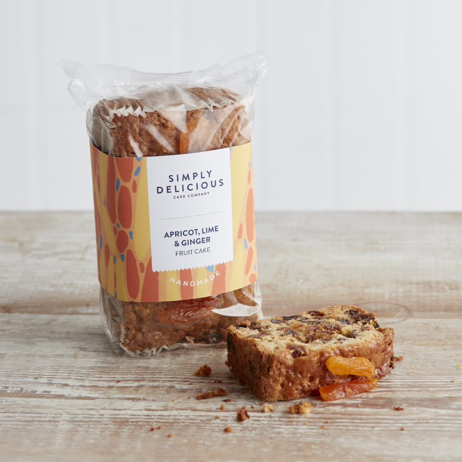 Simply Delicious Apricot & Ginger Fruit Cake Loaf, 550g