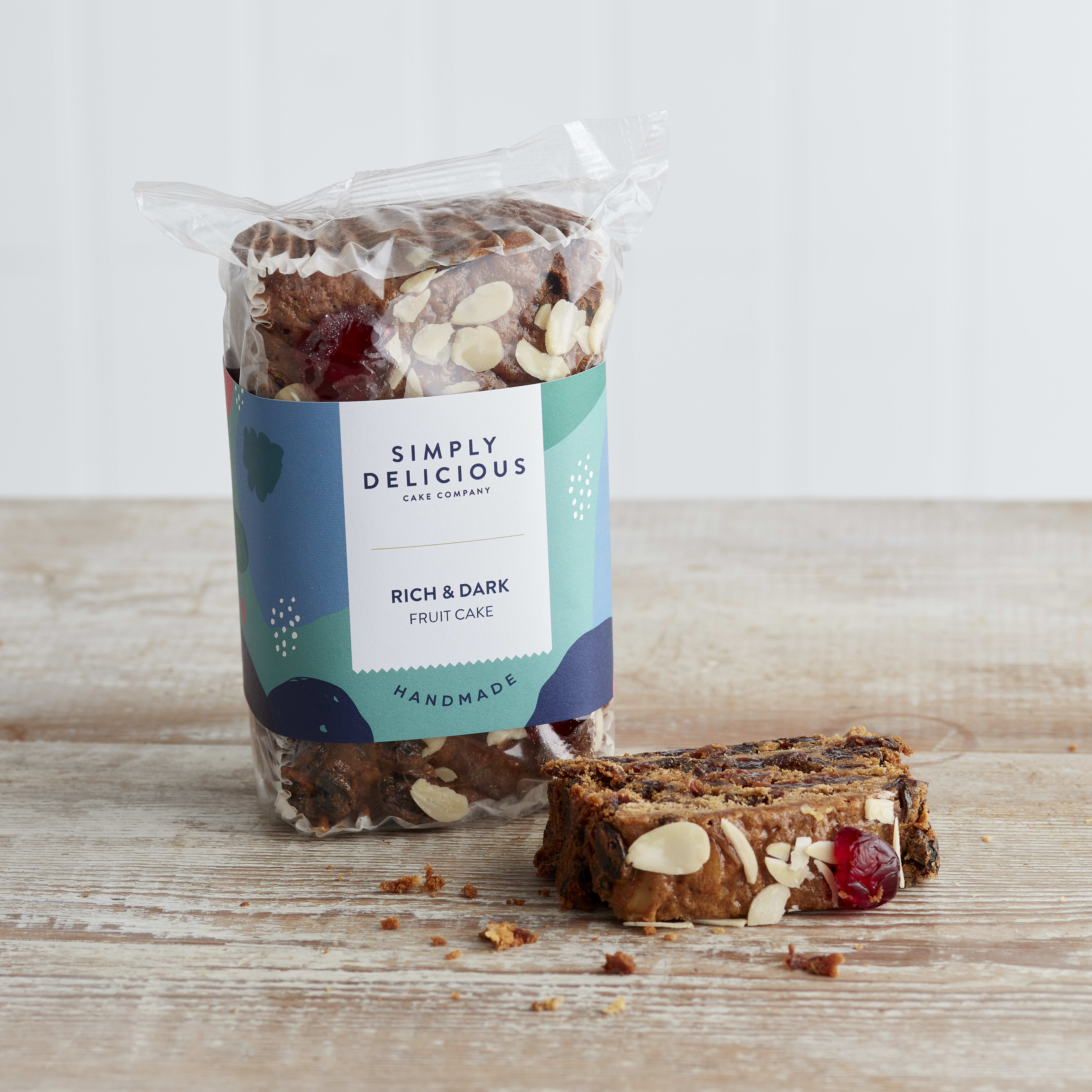 Simply Delicious Dark Rich Fruit Cake Loaf, 550g