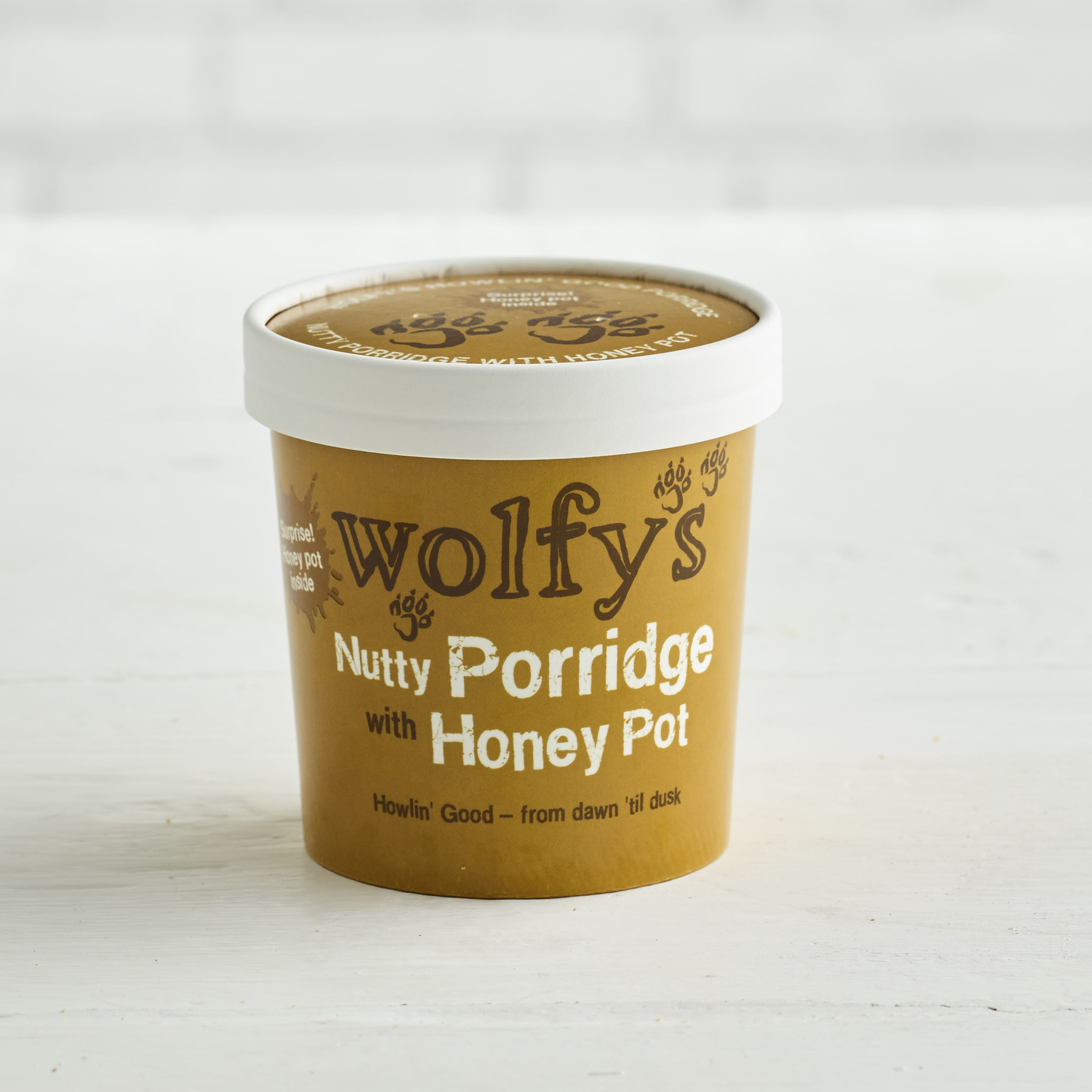 Wolfys Nutty Porridge with Honey Pot, 90g