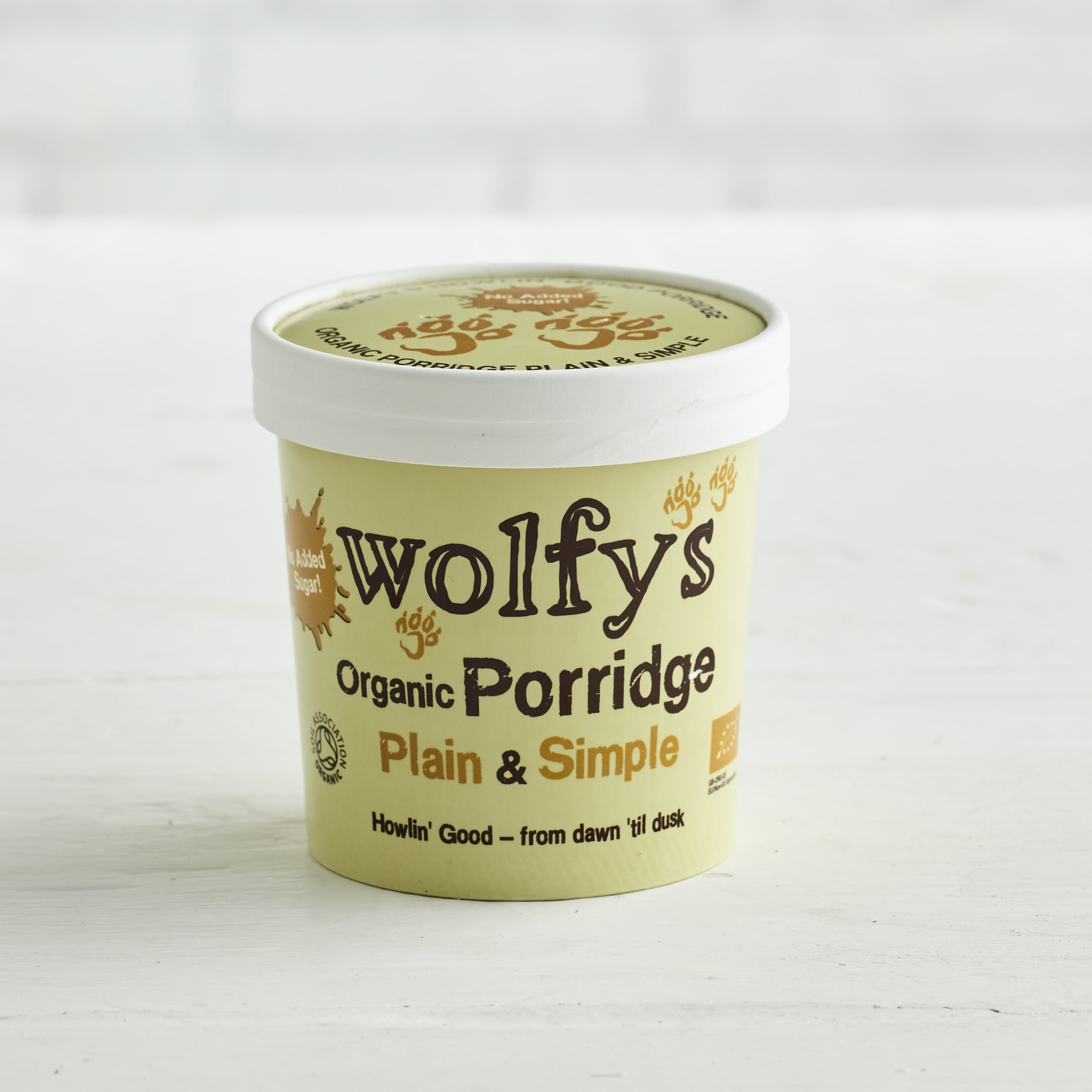 Wolfys Organic Porridge Pot Plain & Simple, 60g