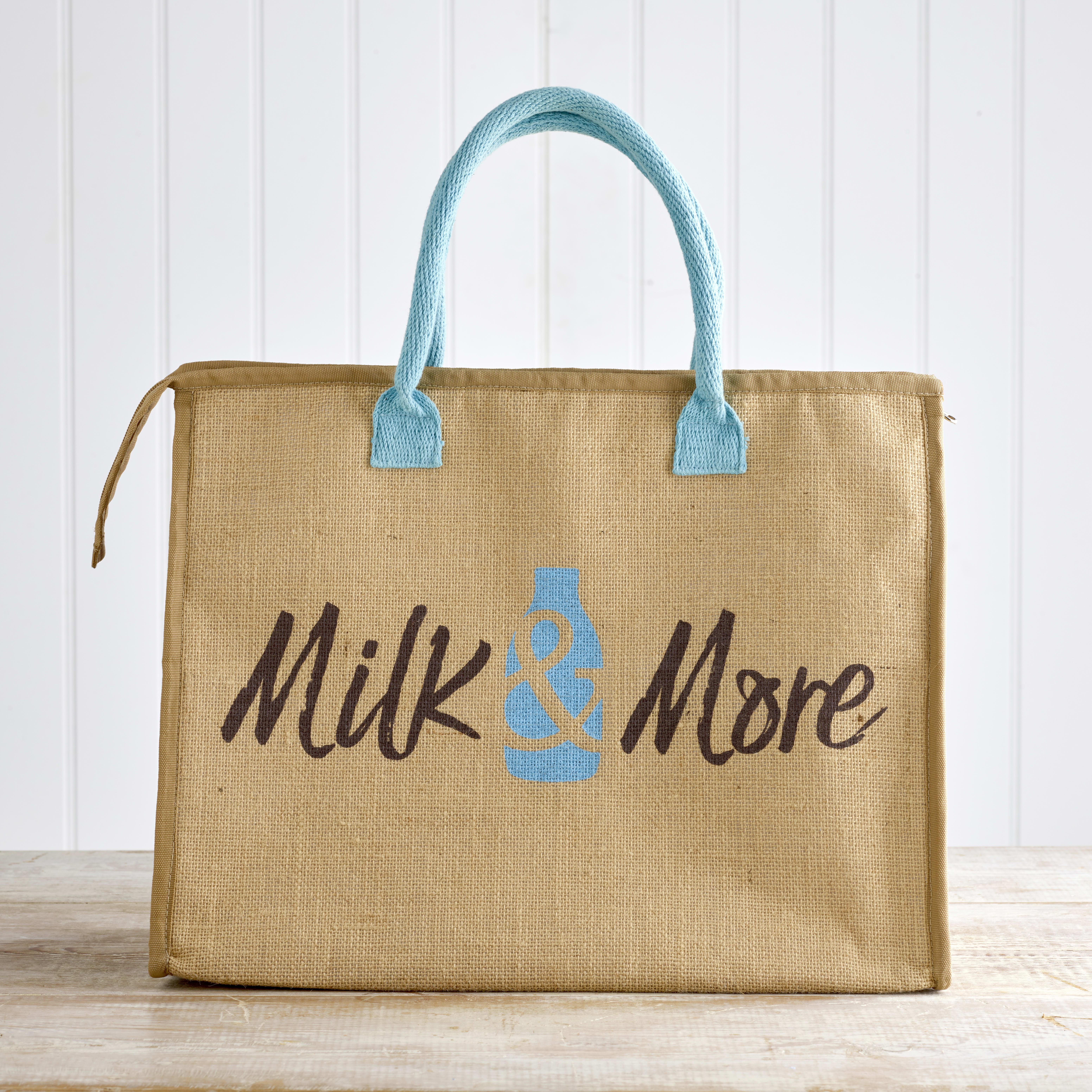 Milk & More Hessian Cool Bag