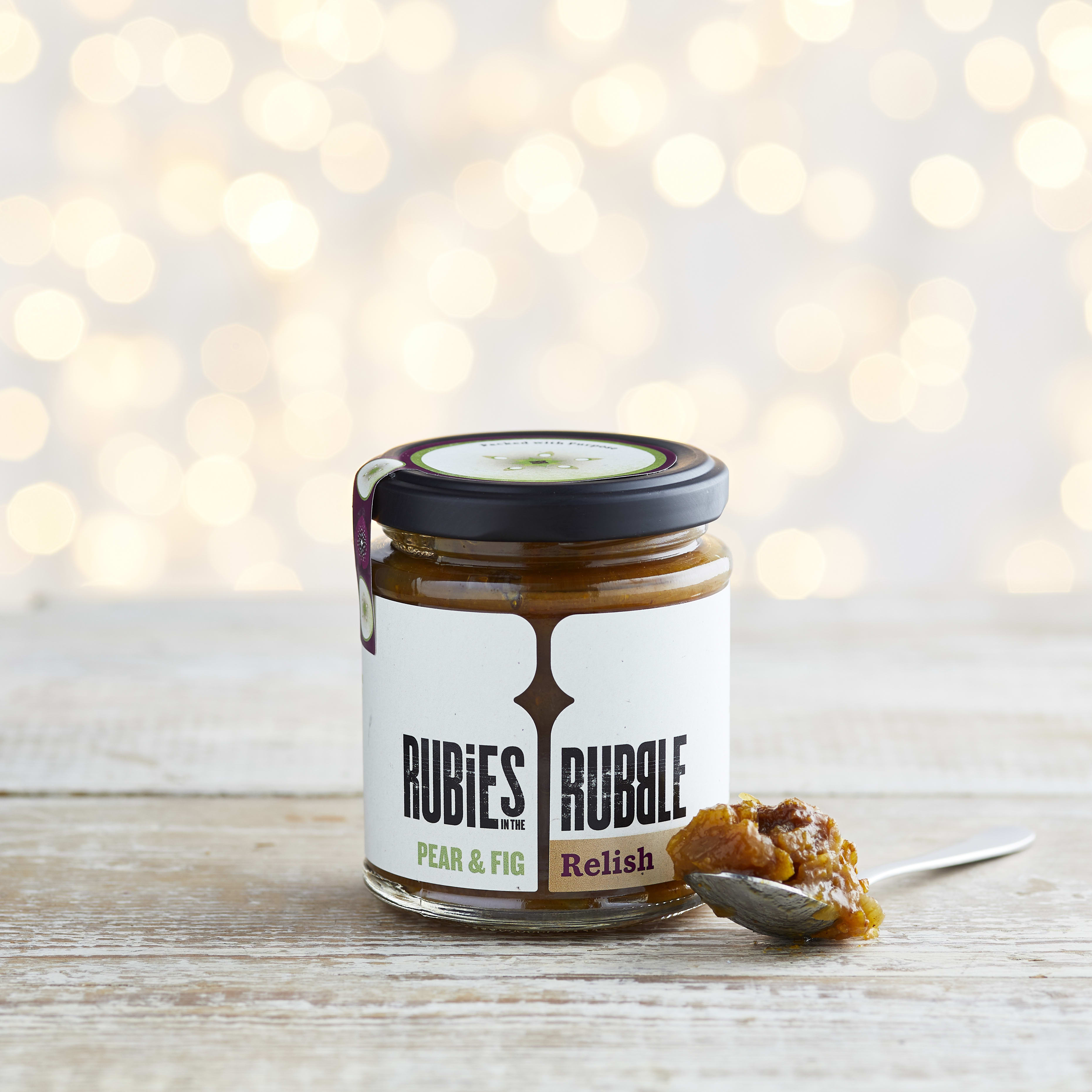 Rubies in the Rubble Pear, Fig and Port Chutney, 200g