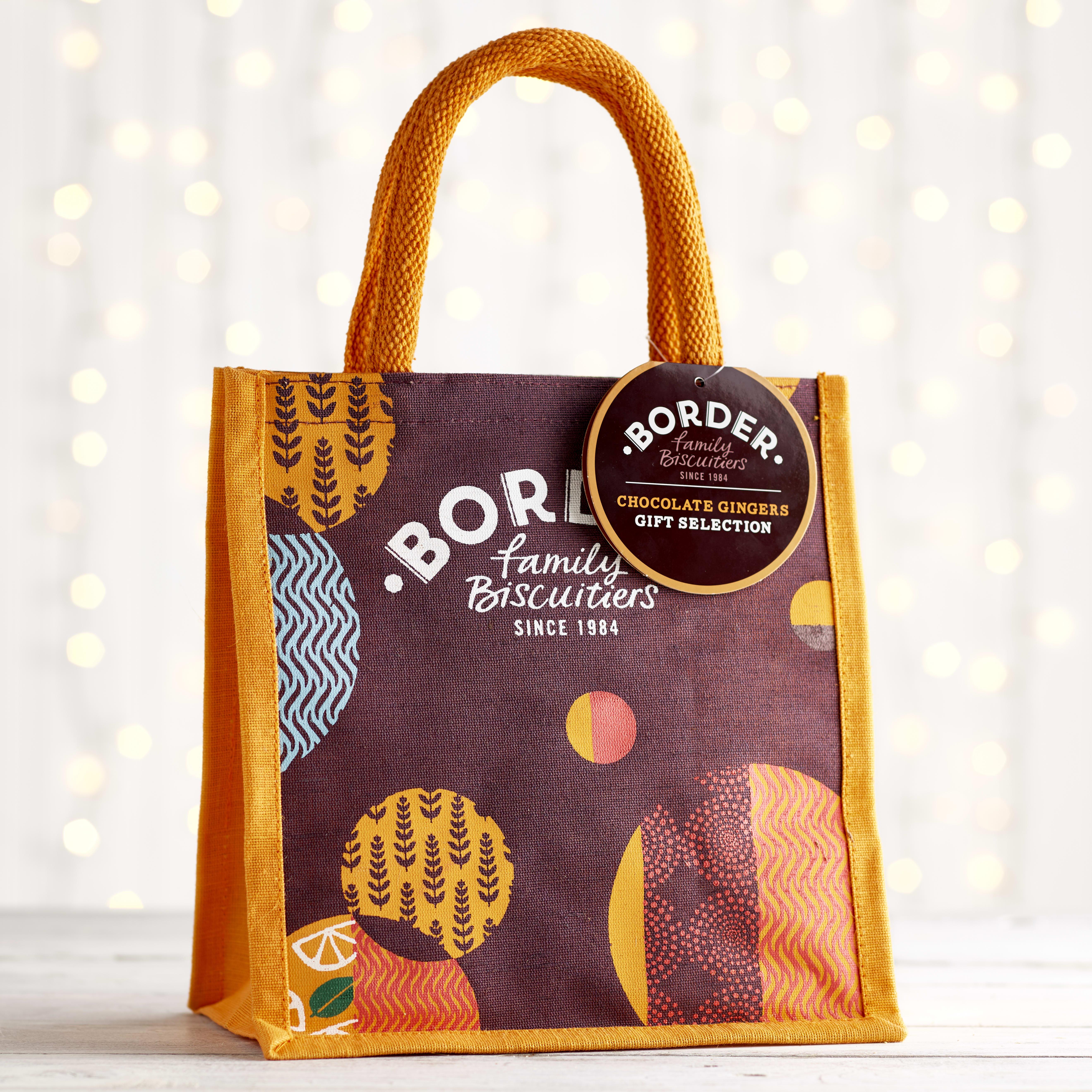 Borders Chocolate Ginger Jute Bag, 175g