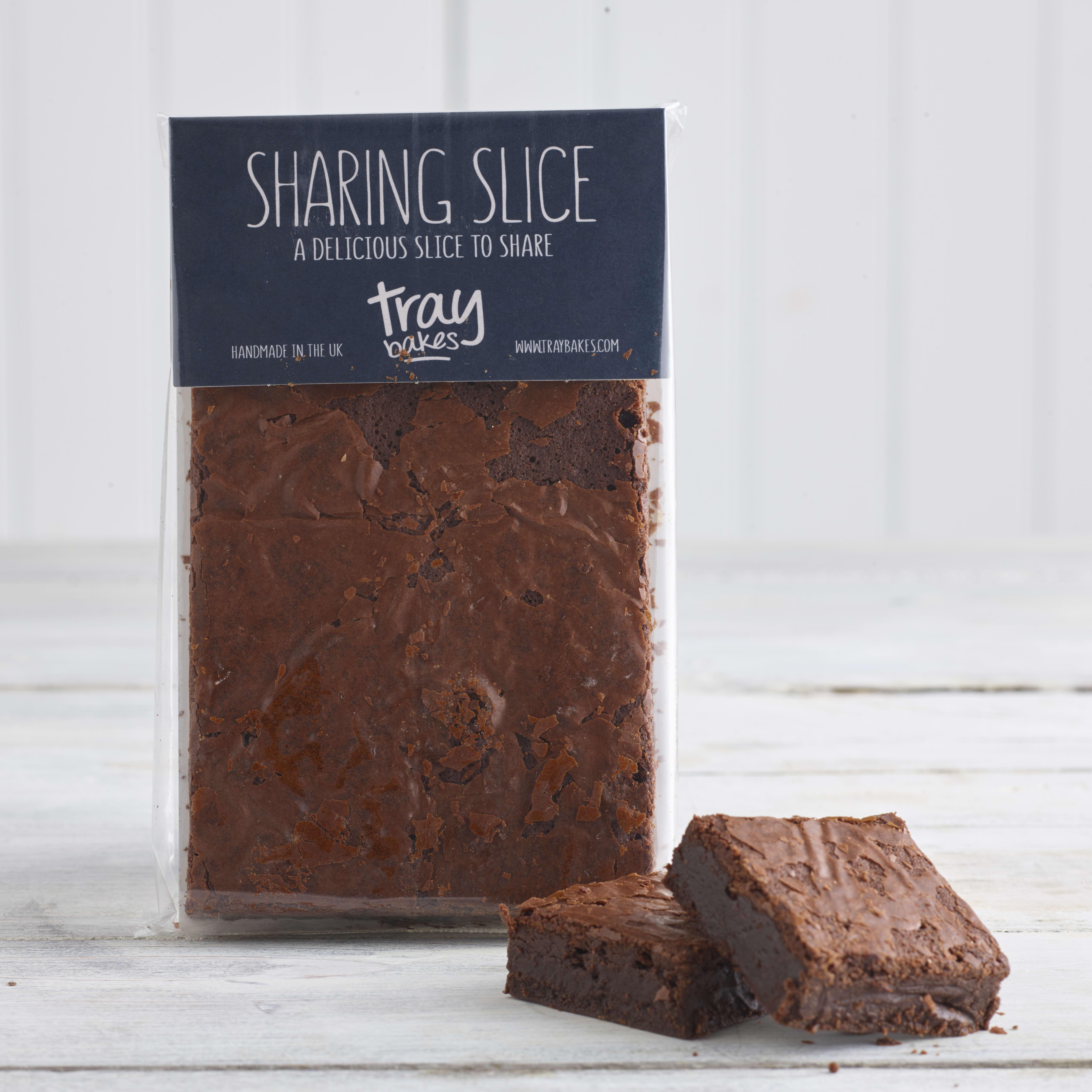 Traybakes Dark Chocolate Brownie Sharing Slice,
