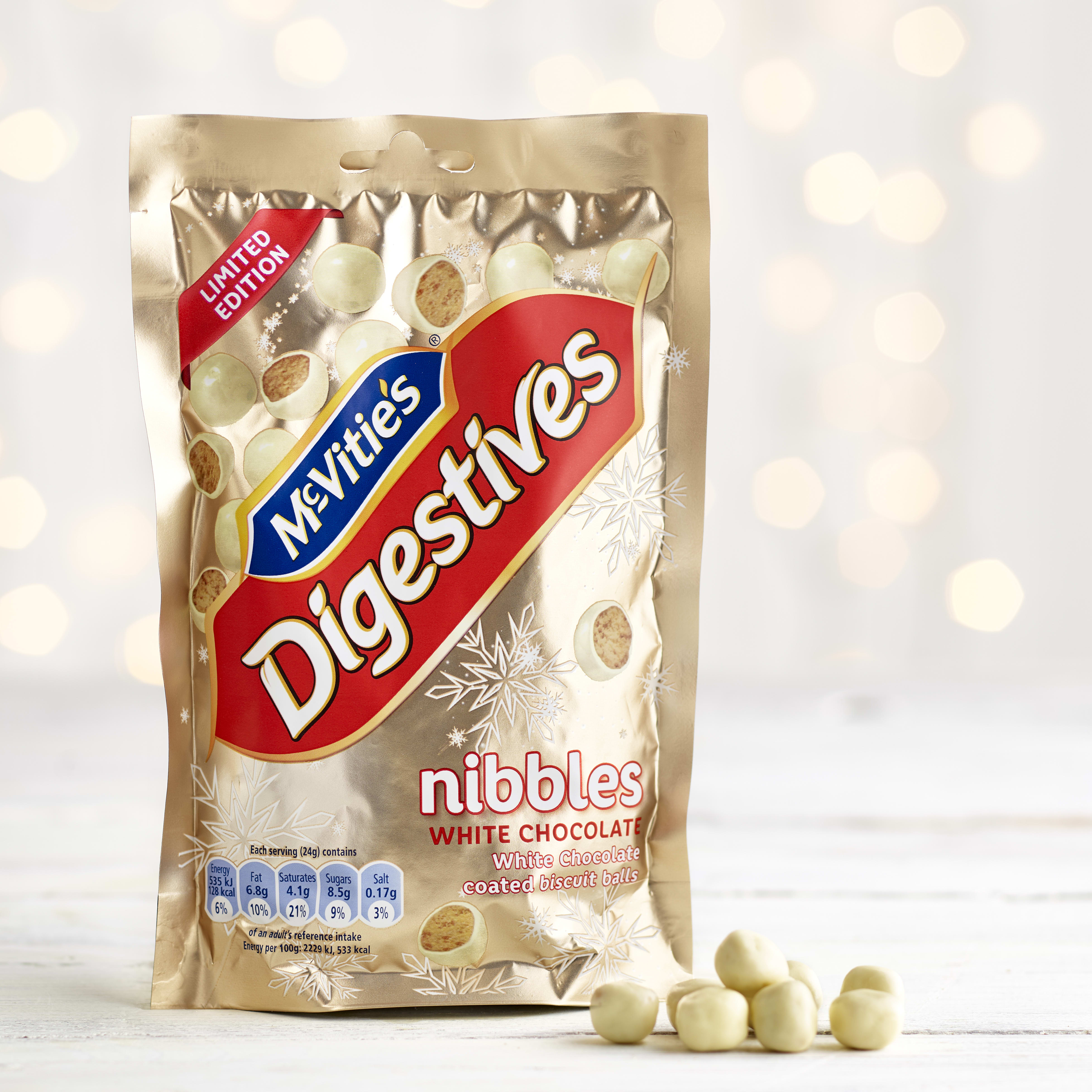 McVitie's White Chocolate Digestives Nibbles 120g