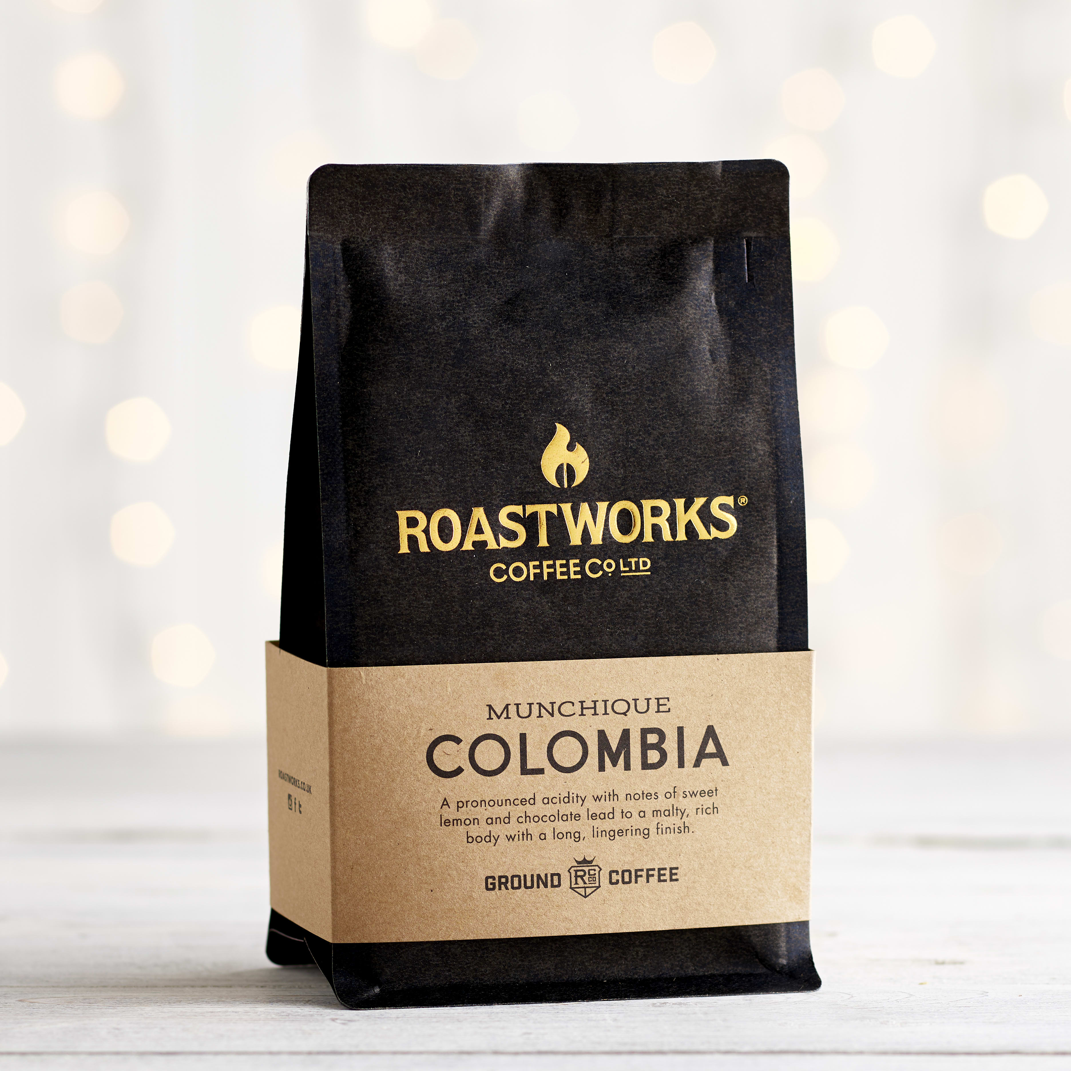 Roastworks Colombian Ground Coffee, 200g