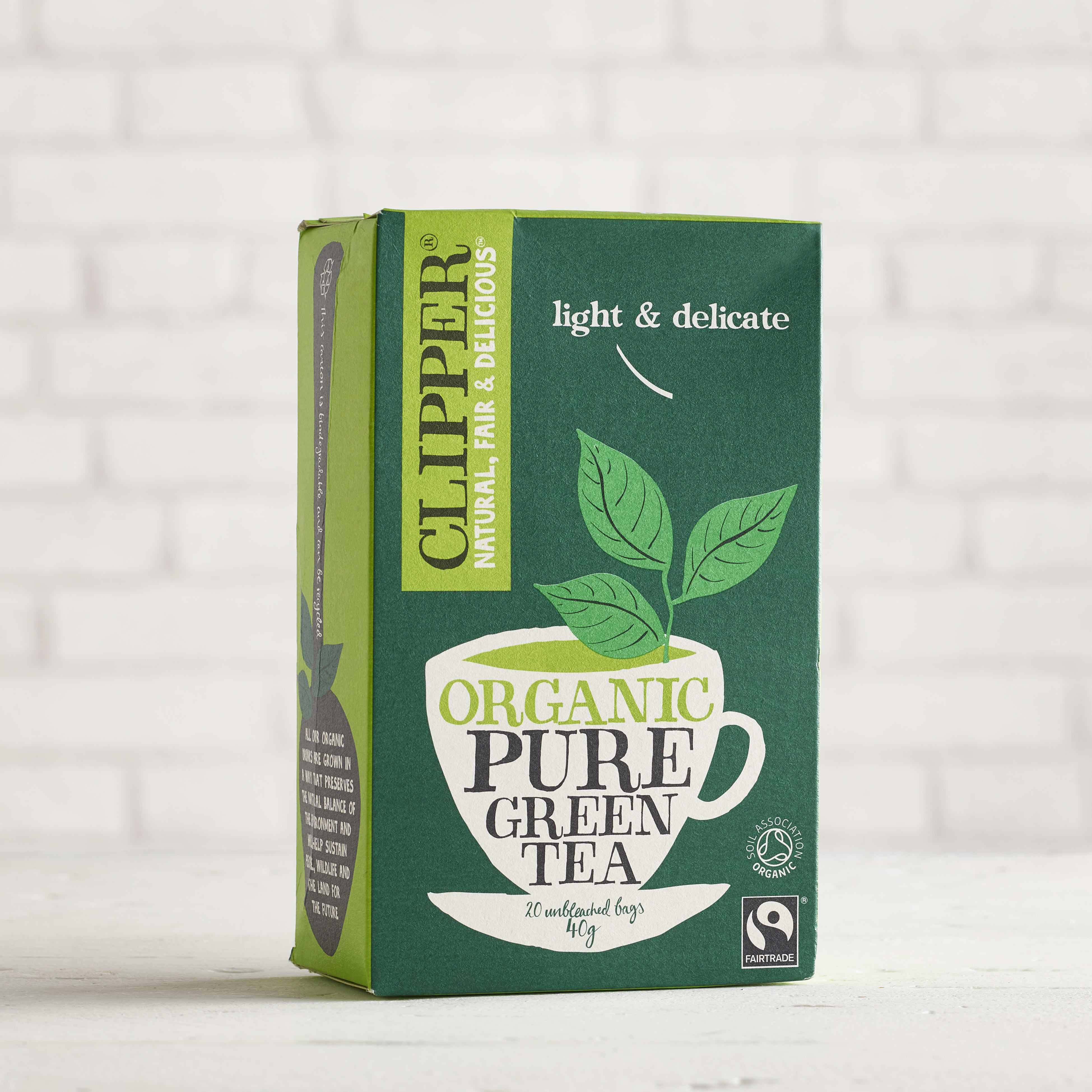 Clipper Organic Pure Green Tea, 20 bags
