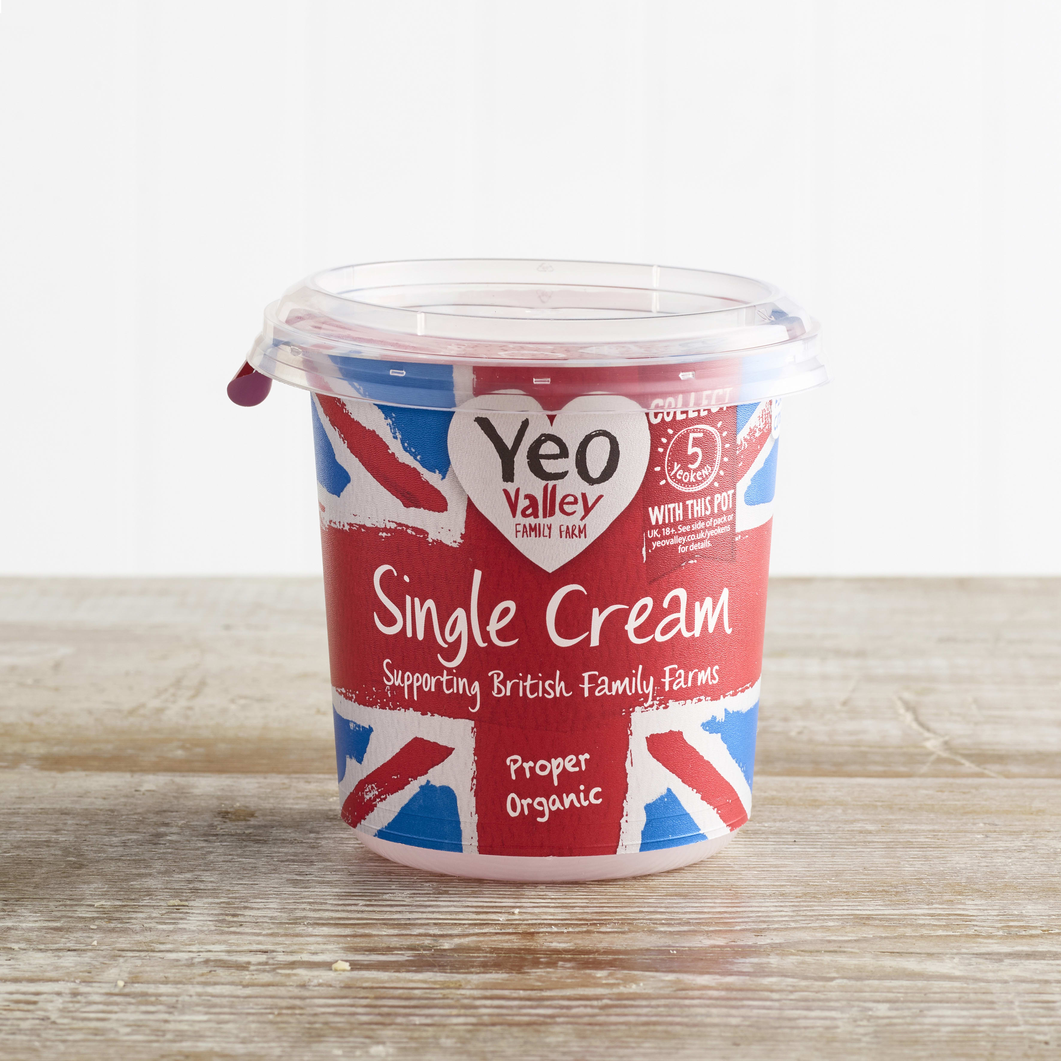Yeo Valley Organic Single Cream, 227ml
