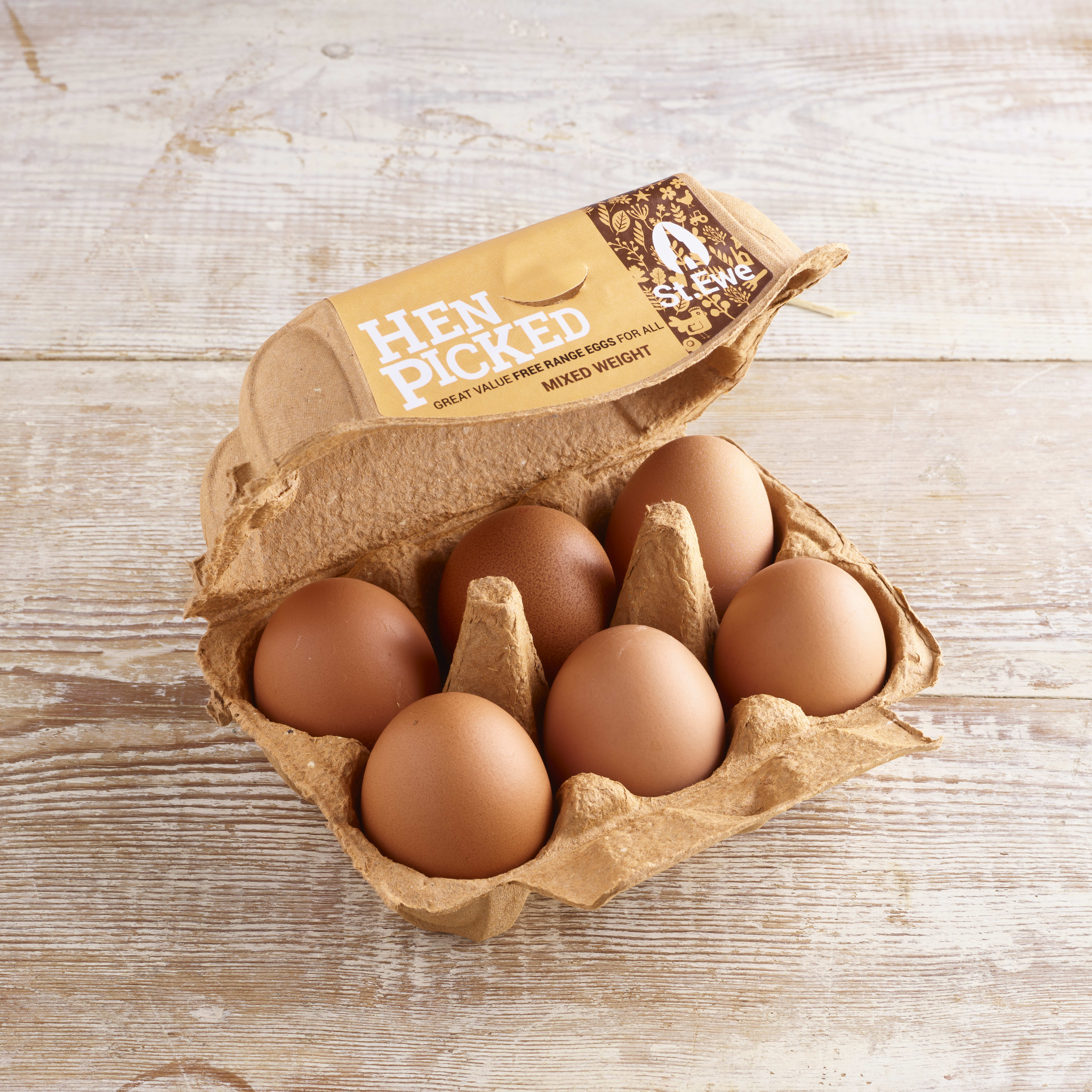 St Ewe Hen Picked Westcountry Free-Range Eggs              mixed weight