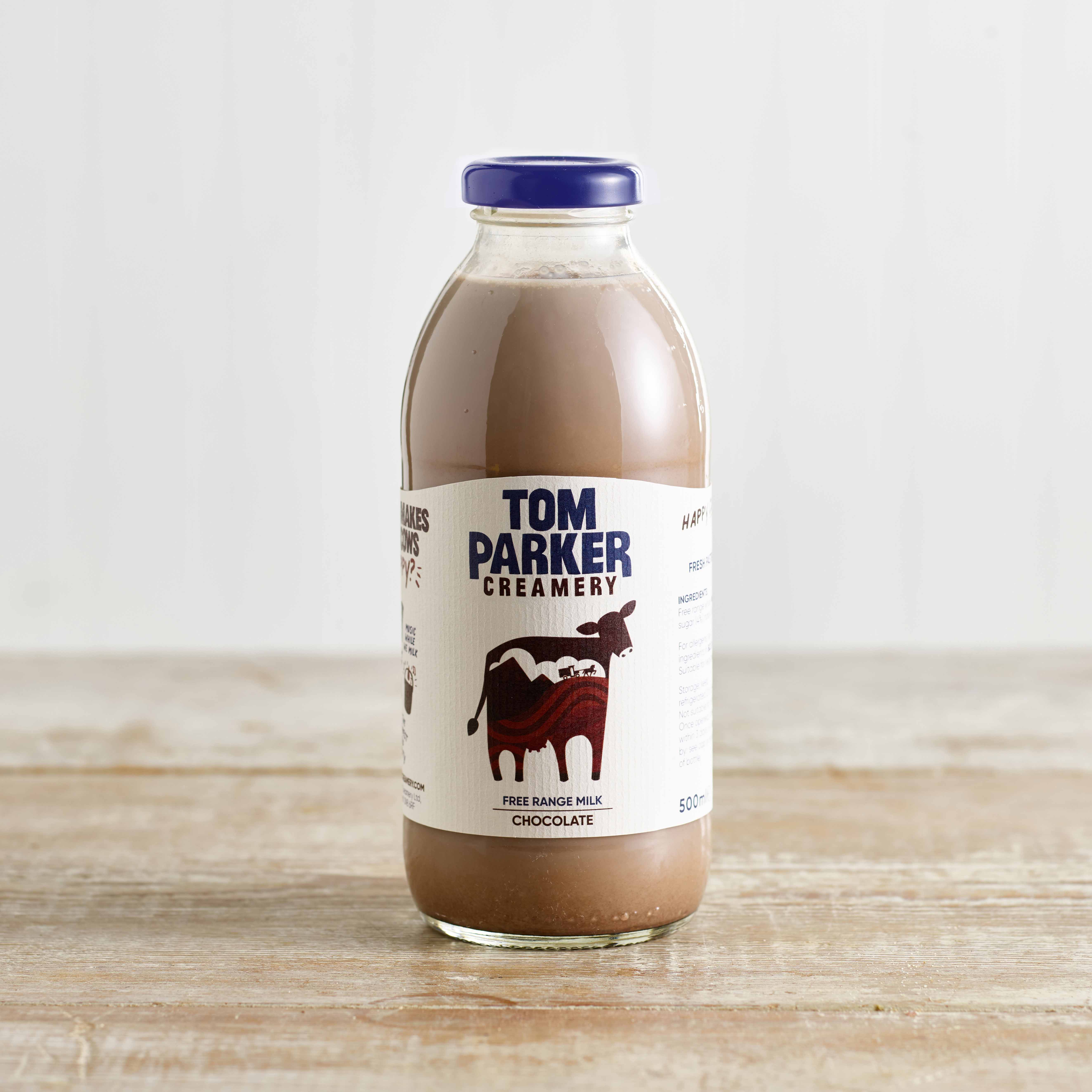 Tom Parker Chocolate Milk in Glass, 500ml